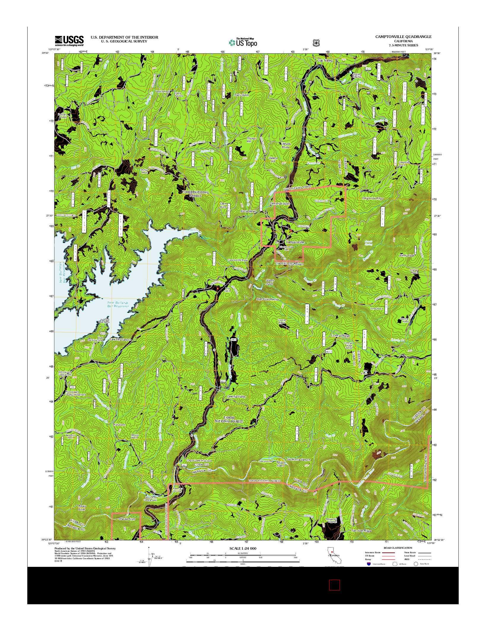 USGS US TOPO 7.5-MINUTE MAP FOR CAMPTONVILLE, CA 2012