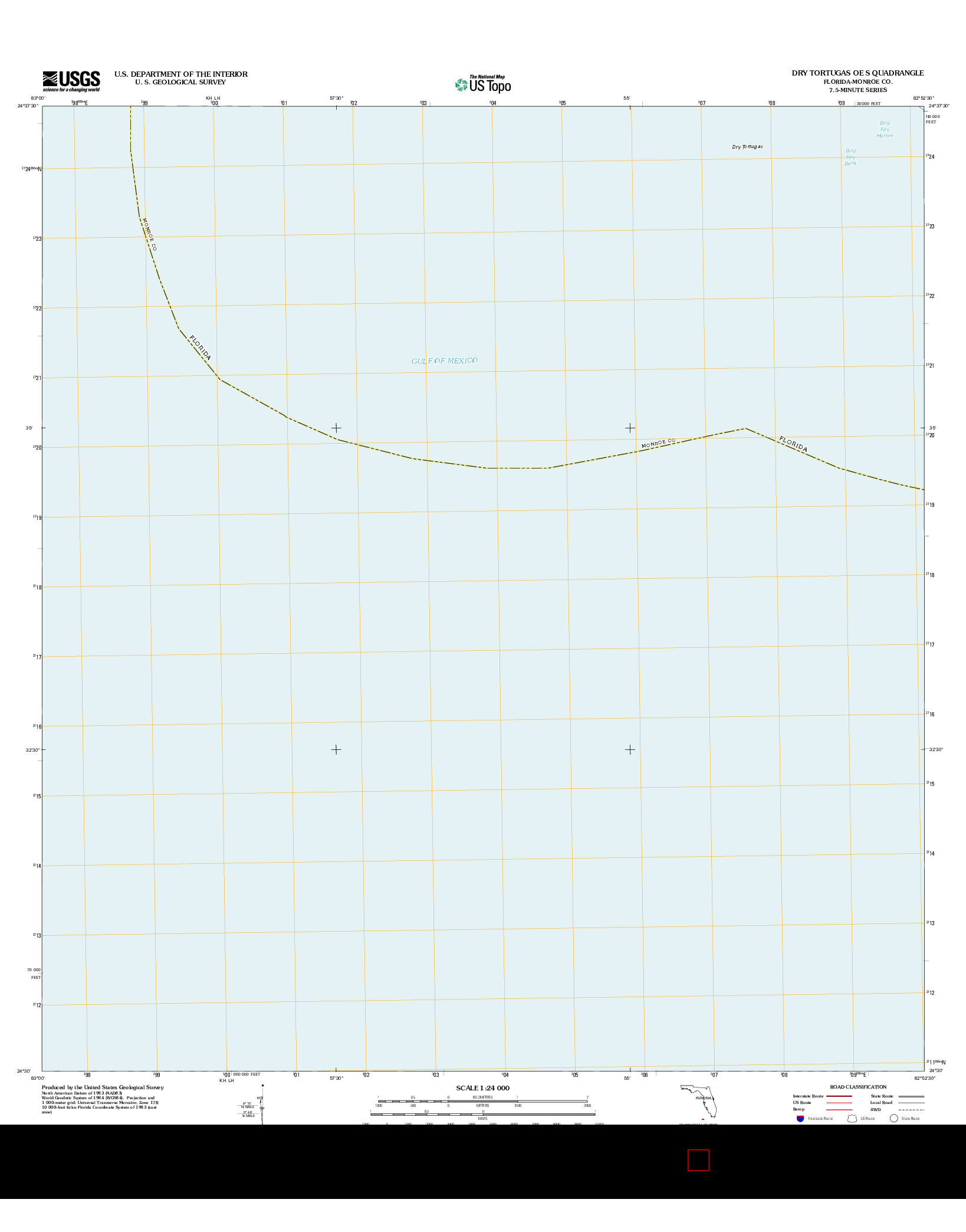 USGS US TOPO 7.5-MINUTE MAP FOR DRY TORTUGAS OE S, FL 2012