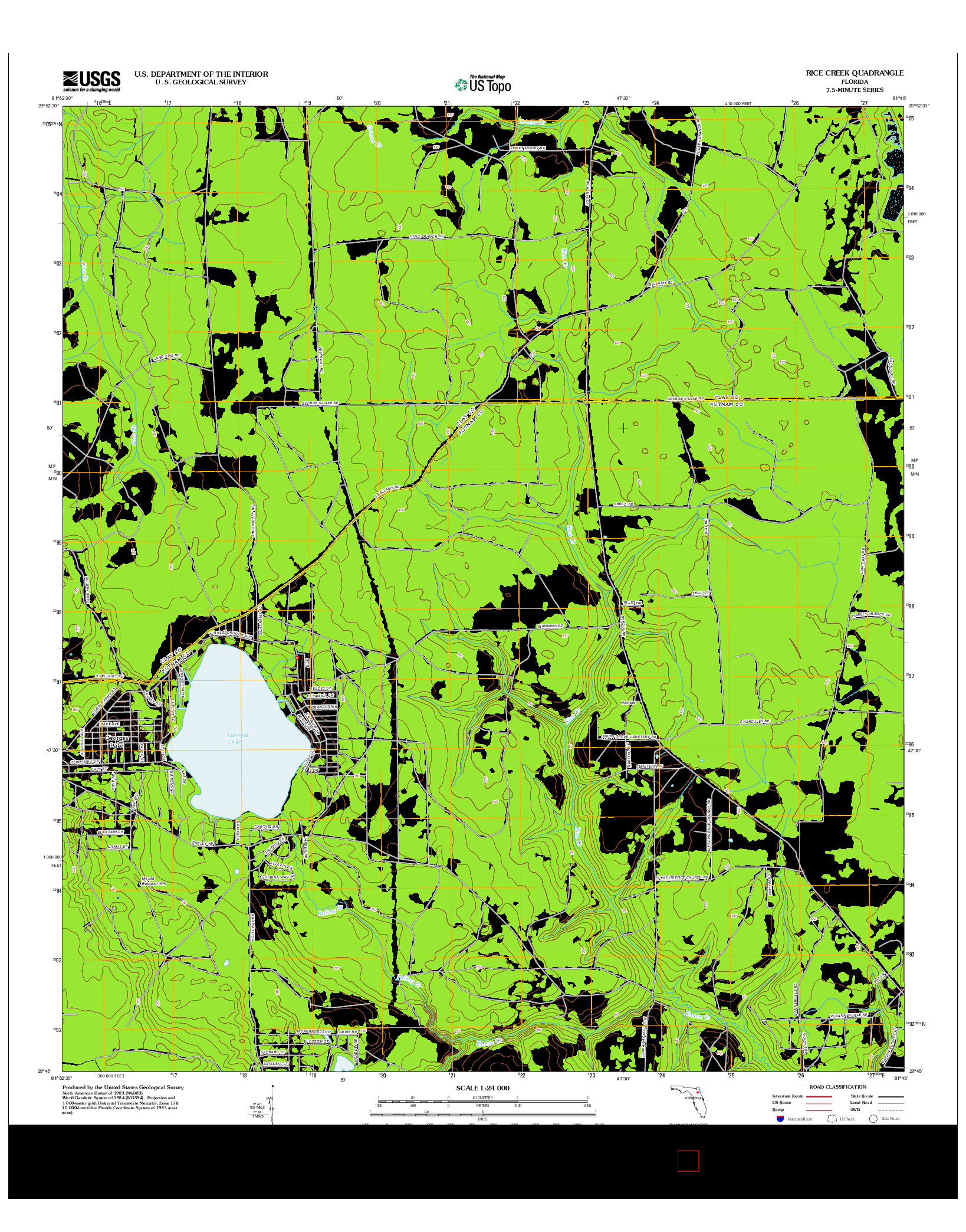 USGS US TOPO 7.5-MINUTE MAP FOR RICE CREEK, FL 2012