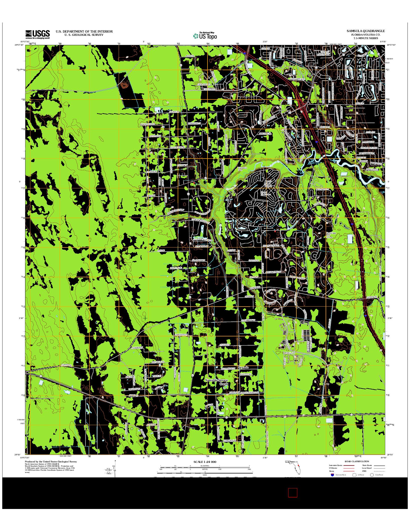 USGS US TOPO 7.5-MINUTE MAP FOR SAMSULA, FL 2012