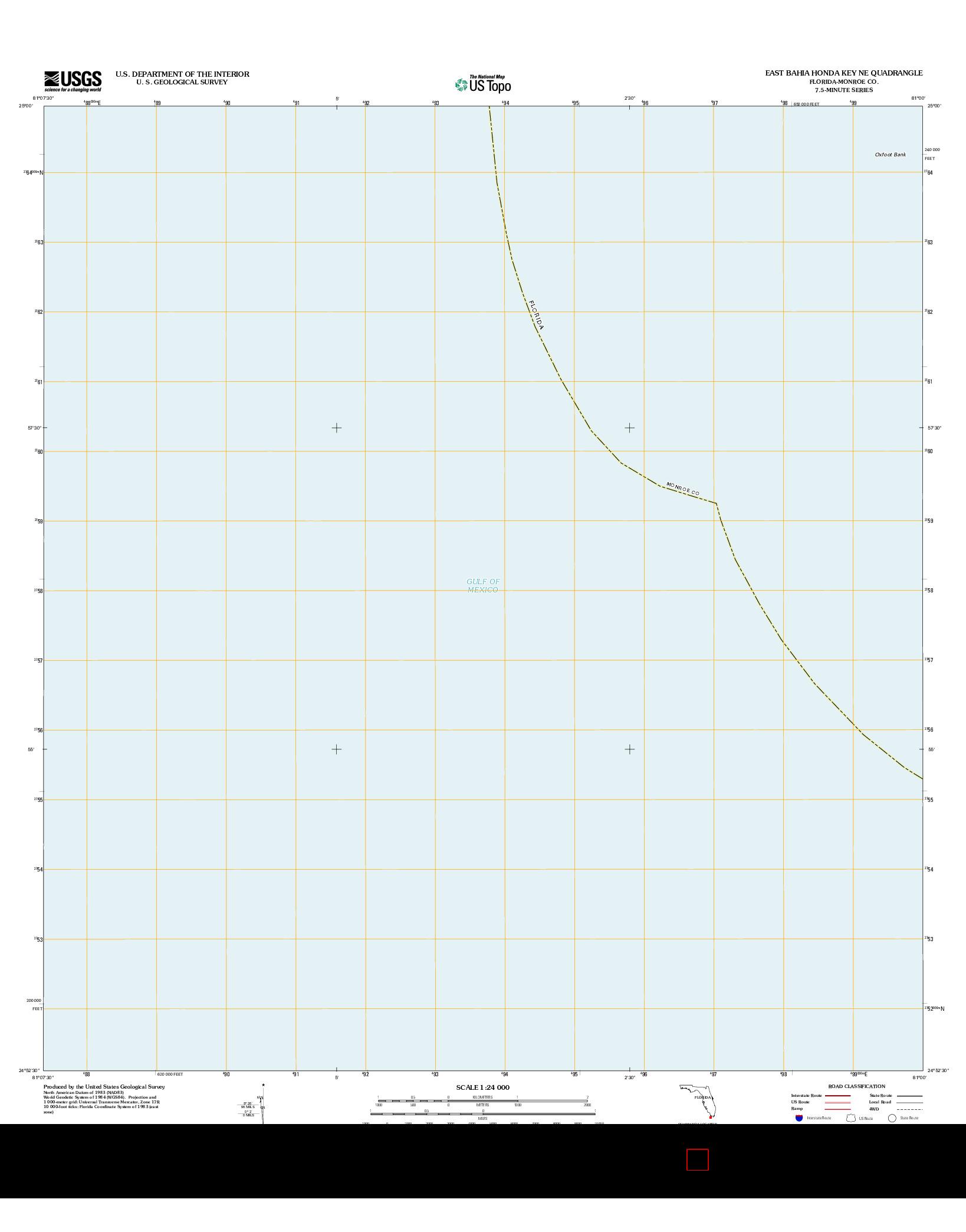 USGS US TOPO 7.5-MINUTE MAP FOR EAST BAHIA HONDA KEY NE, FL 2012