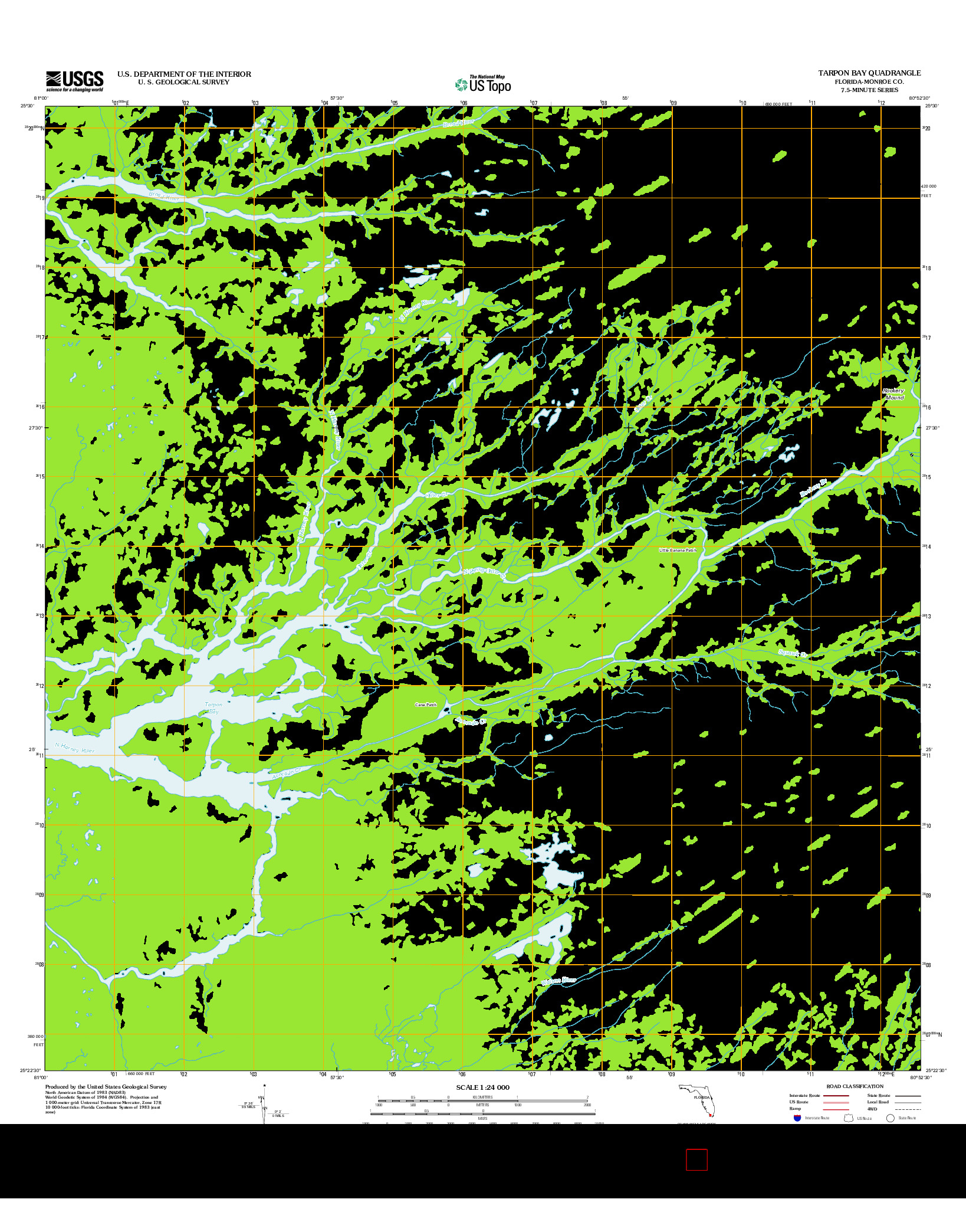 USGS US TOPO 7.5-MINUTE MAP FOR TARPON BAY, FL 2012
