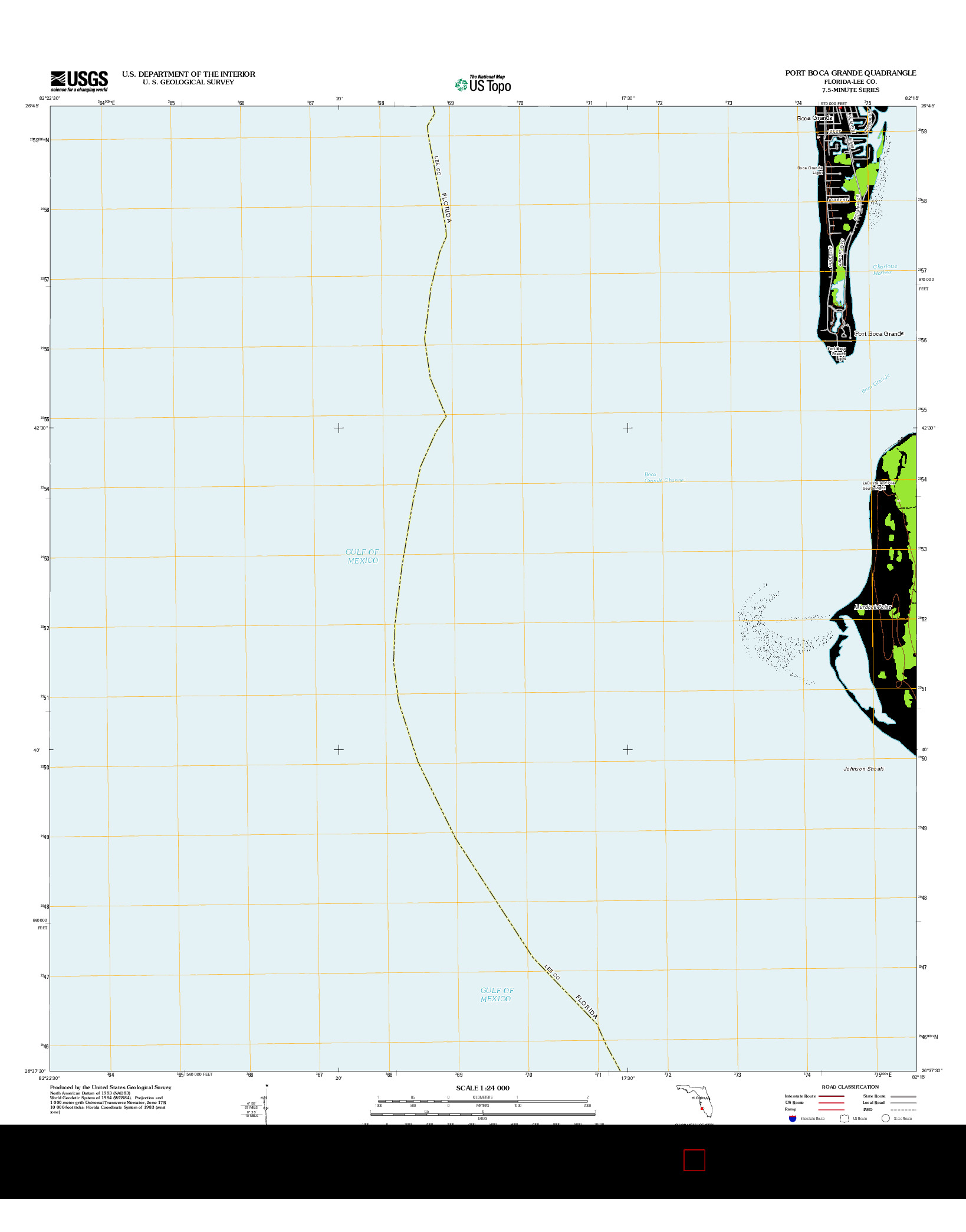 USGS US TOPO 7.5-MINUTE MAP FOR PORT BOCA GRANDE, FL 2012