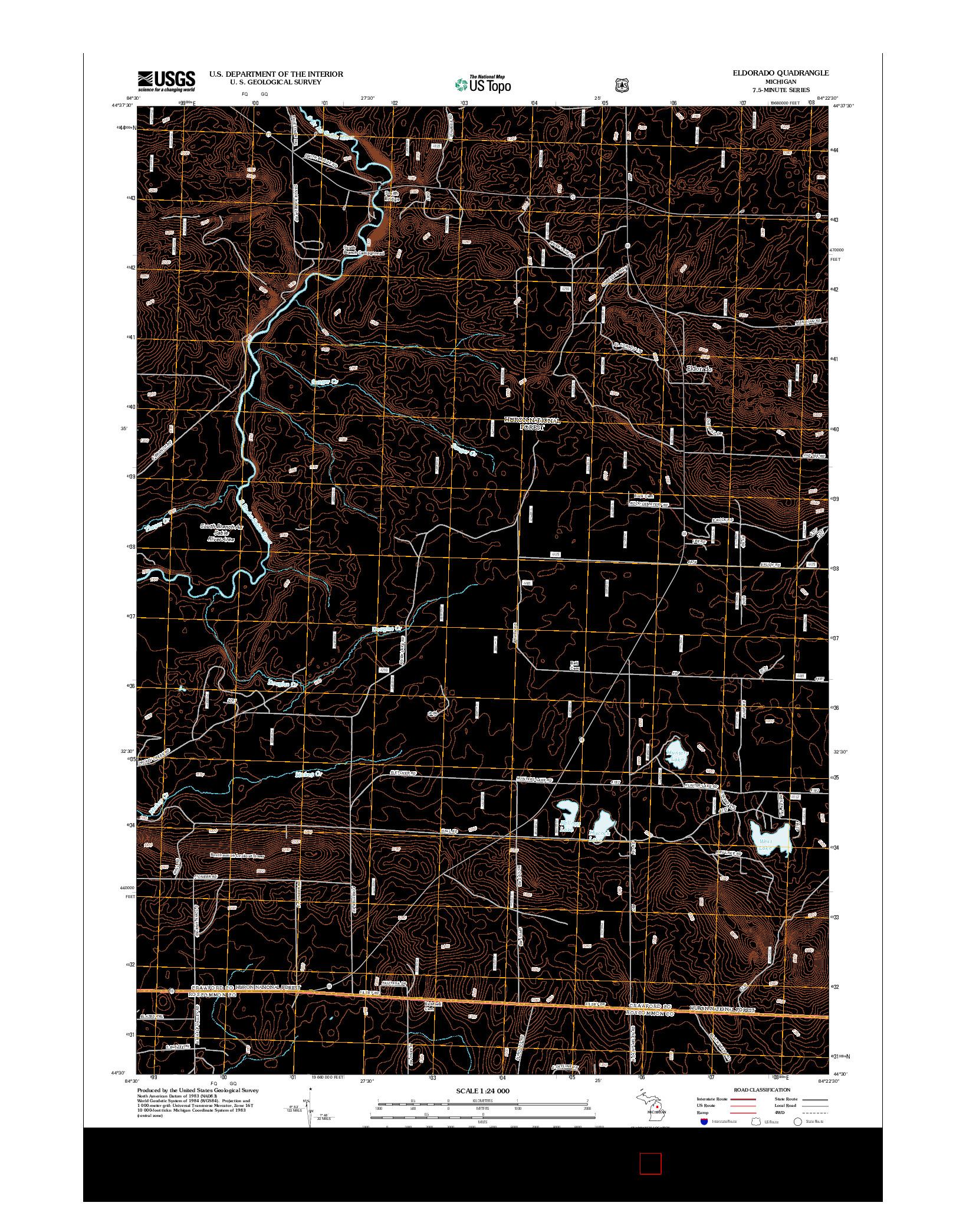 USGS US TOPO 7.5-MINUTE MAP FOR ELDORADO, MI 2012