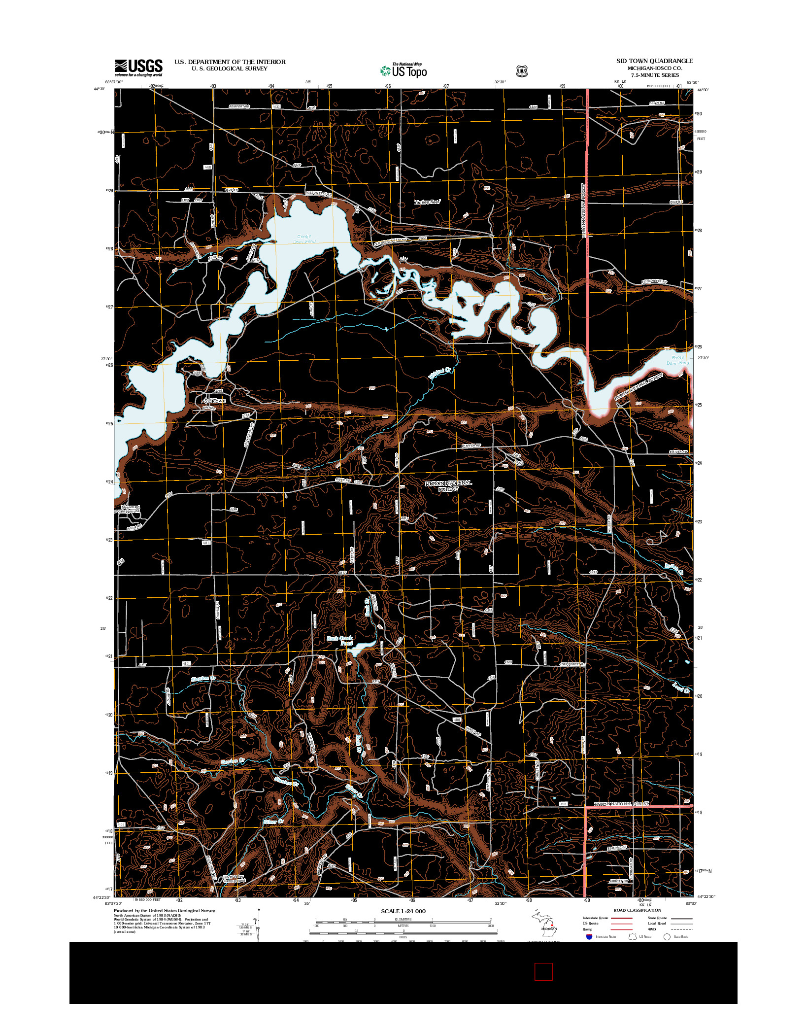 USGS US TOPO 7.5-MINUTE MAP FOR SID TOWN, MI 2012