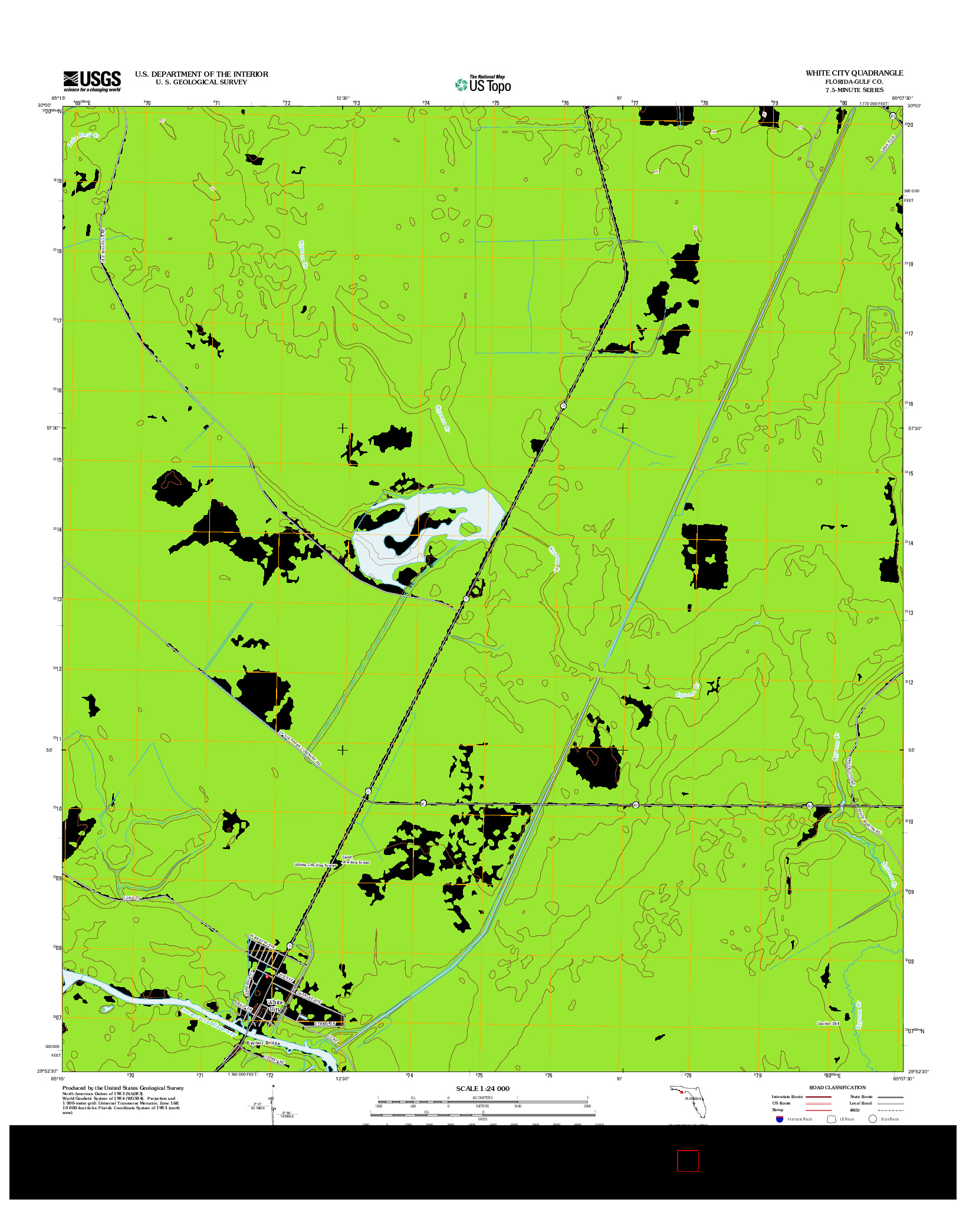 USGS US TOPO 7.5-MINUTE MAP FOR WHITE CITY, FL 2012