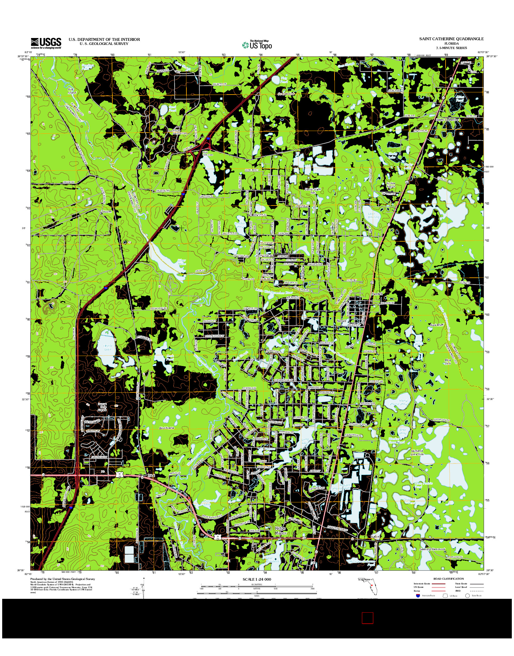 USGS US TOPO 7.5-MINUTE MAP FOR SAINT CATHERINE, FL 2012