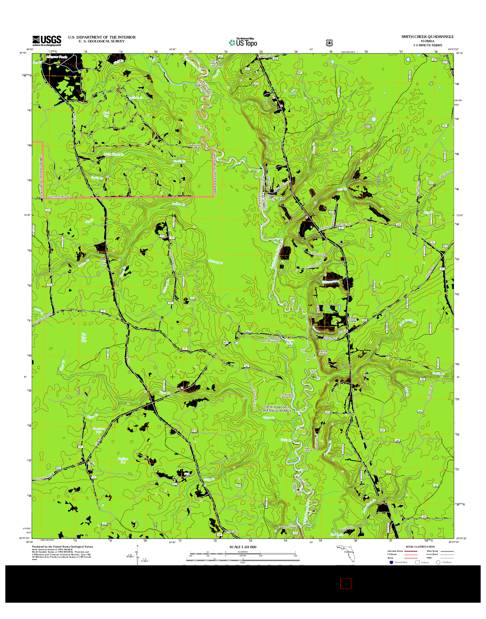 USGS US TOPO 7.5-MINUTE MAP FOR SMITH CREEK, FL 2012