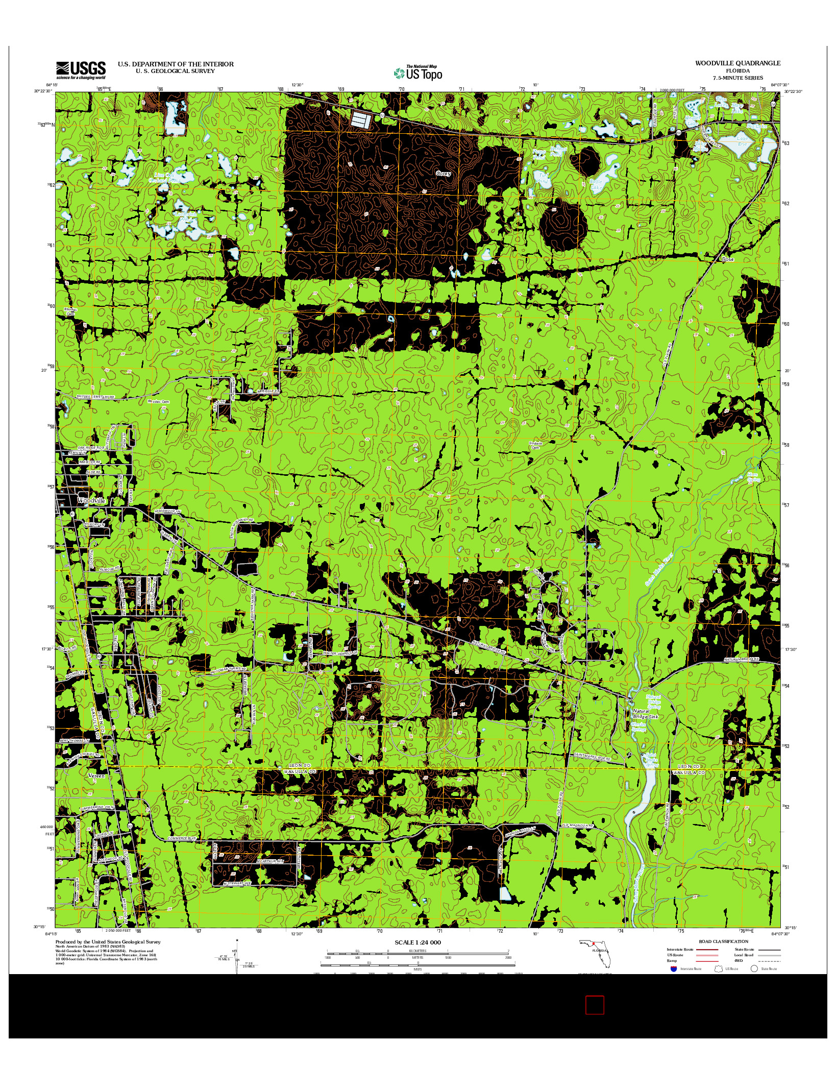 USGS US TOPO 7.5-MINUTE MAP FOR WOODVILLE, FL 2012