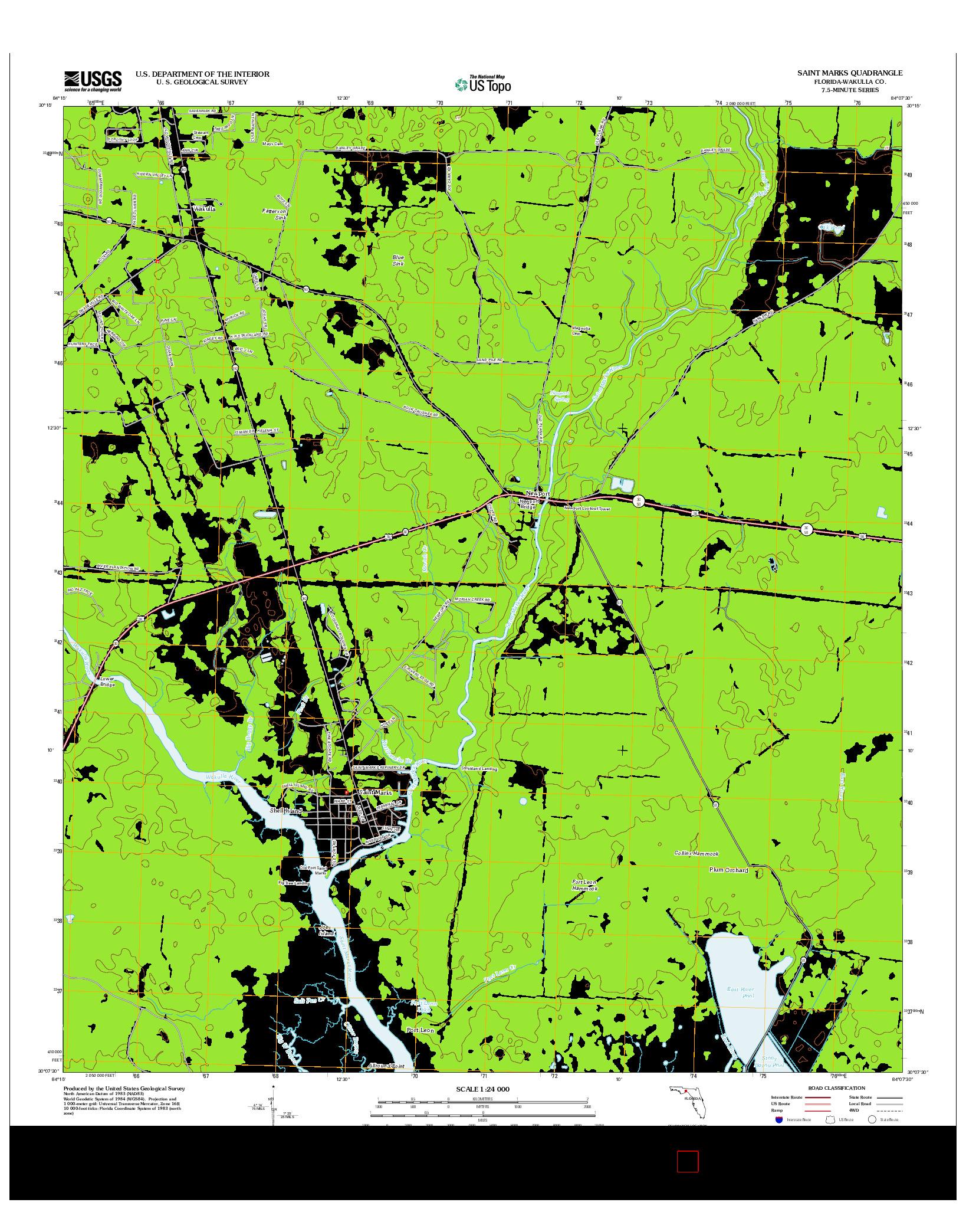 USGS US TOPO 7.5-MINUTE MAP FOR SAINT MARKS, FL 2012