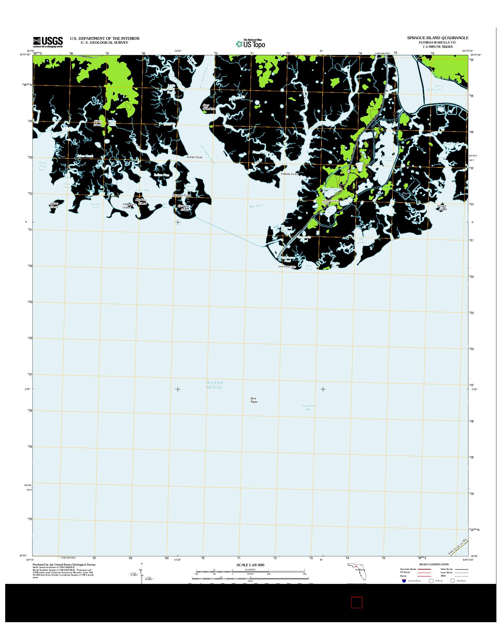 USGS US TOPO 7.5-MINUTE MAP FOR SPRAGUE ISLAND, FL 2012