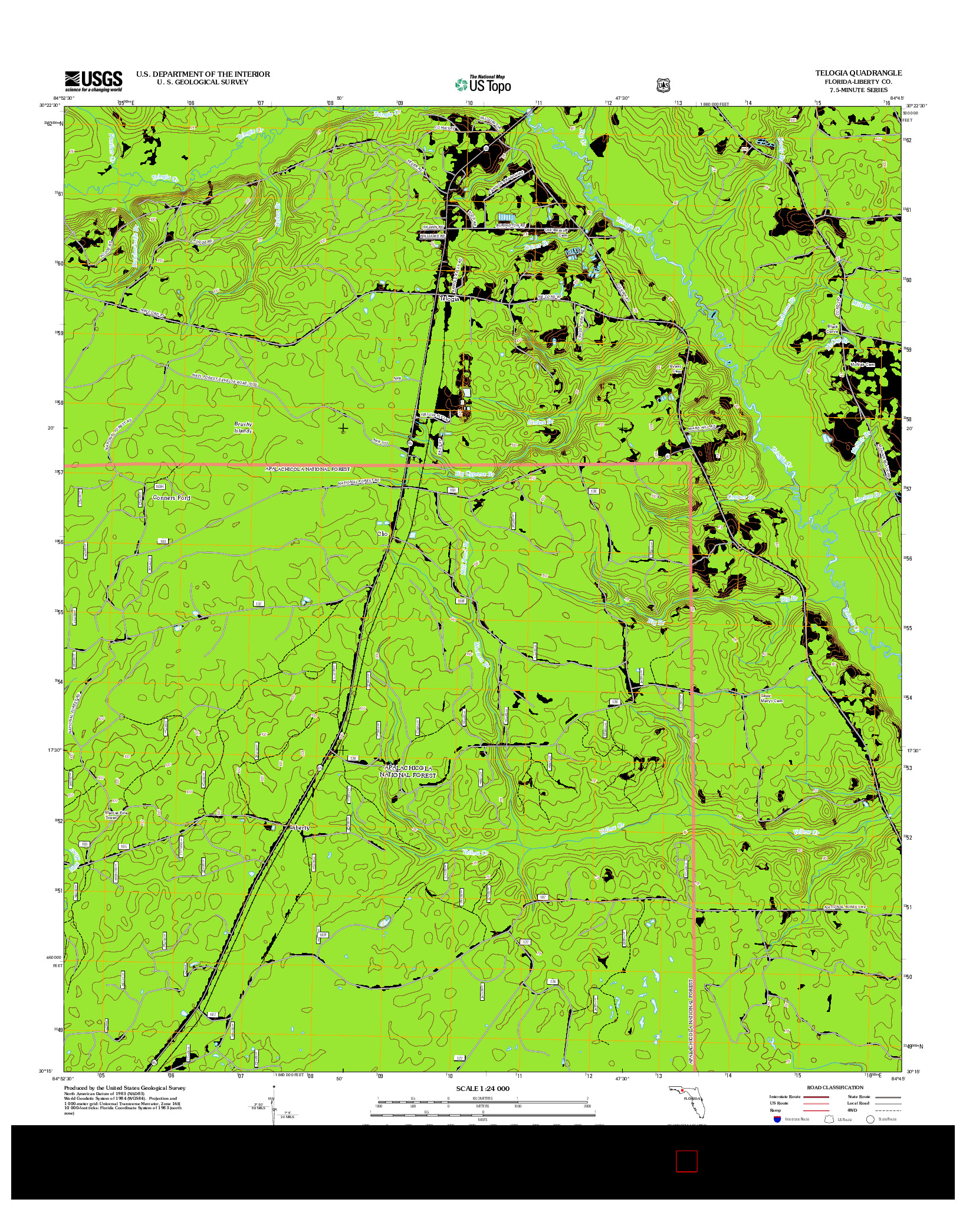 USGS US TOPO 7.5-MINUTE MAP FOR TELOGIA, FL 2012