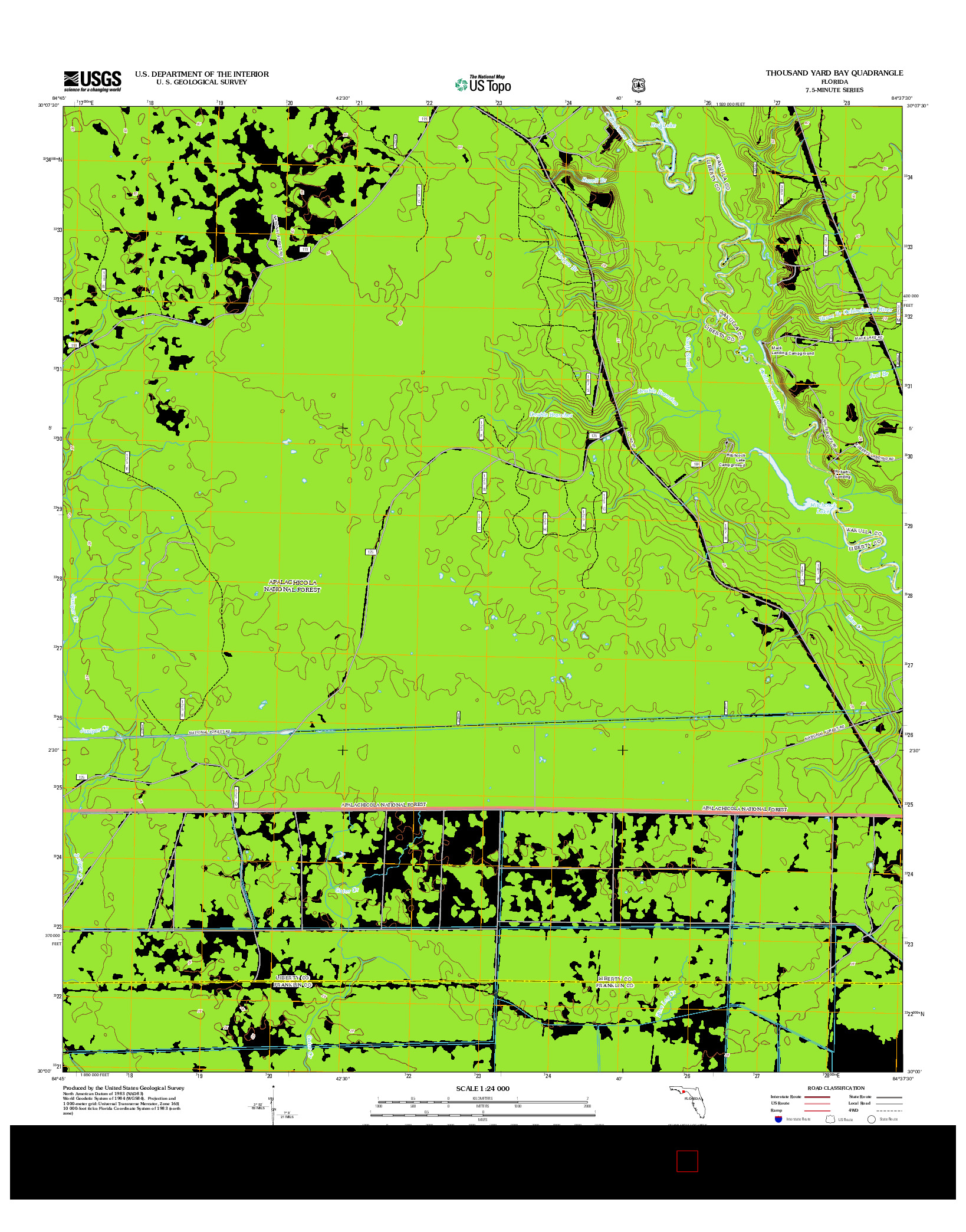 USGS US TOPO 7.5-MINUTE MAP FOR THOUSAND YARD BAY, FL 2012