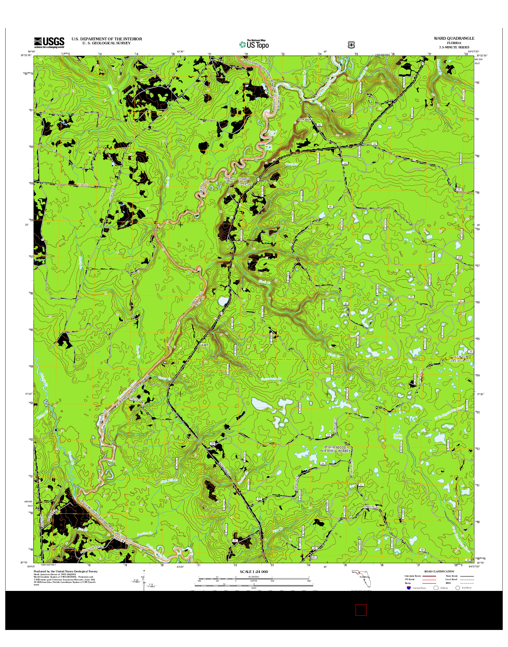 USGS US TOPO 7.5-MINUTE MAP FOR WARD, FL 2012