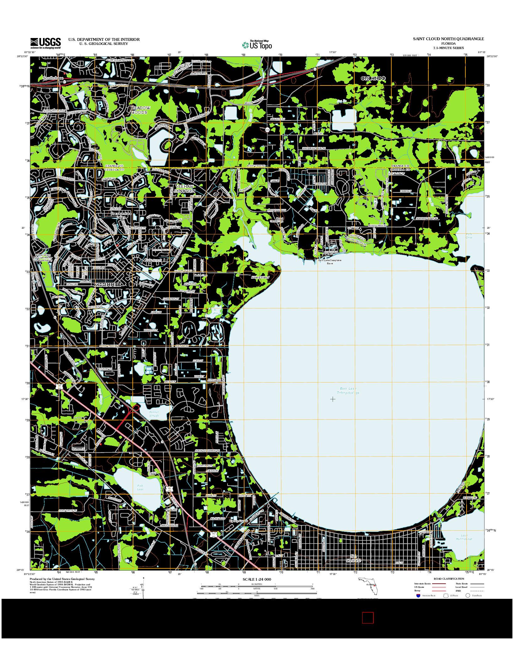 USGS US TOPO 7.5-MINUTE MAP FOR SAINT CLOUD NORTH, FL 2012
