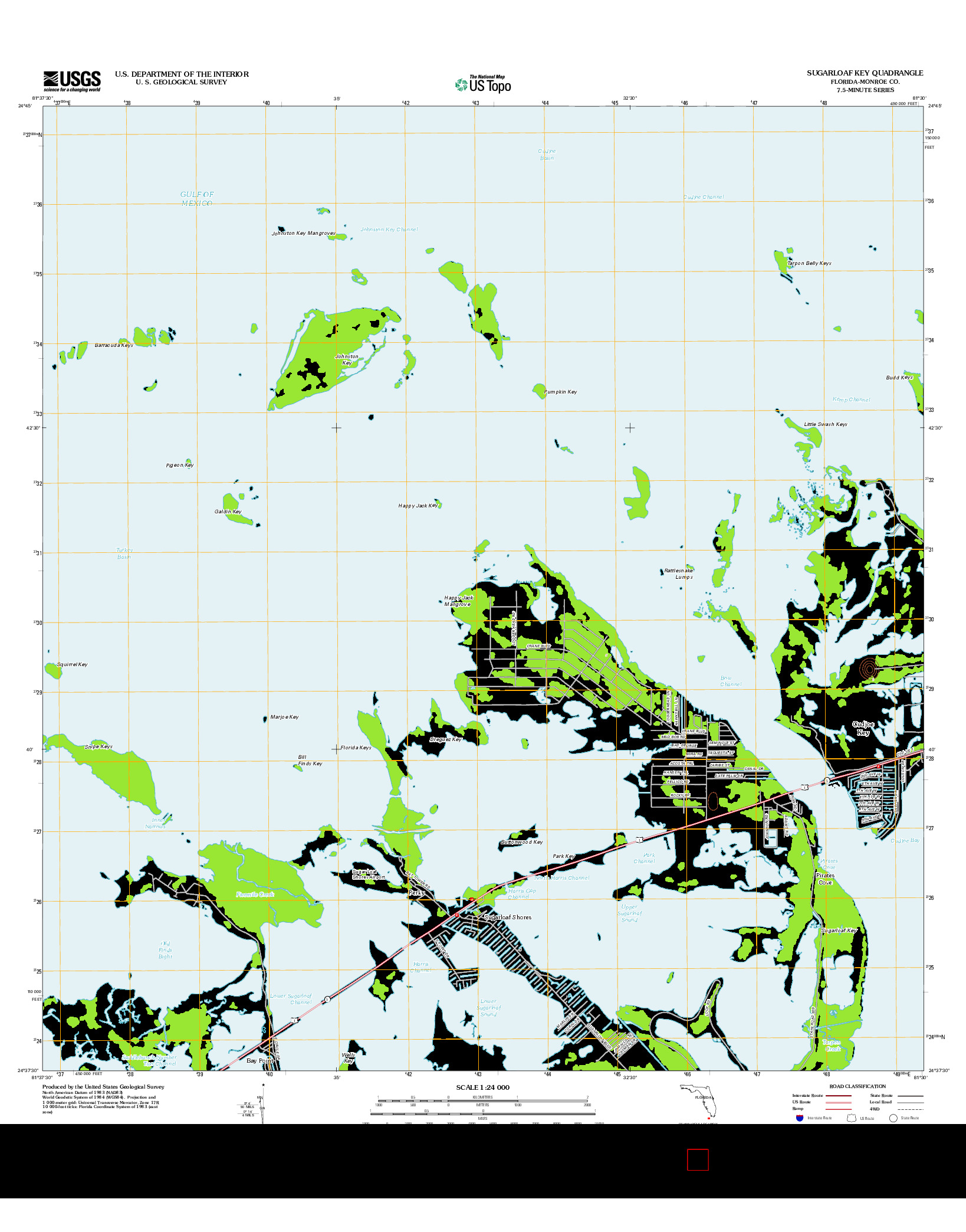 USGS US TOPO 7.5-MINUTE MAP FOR SUGARLOAF KEY, FL 2012