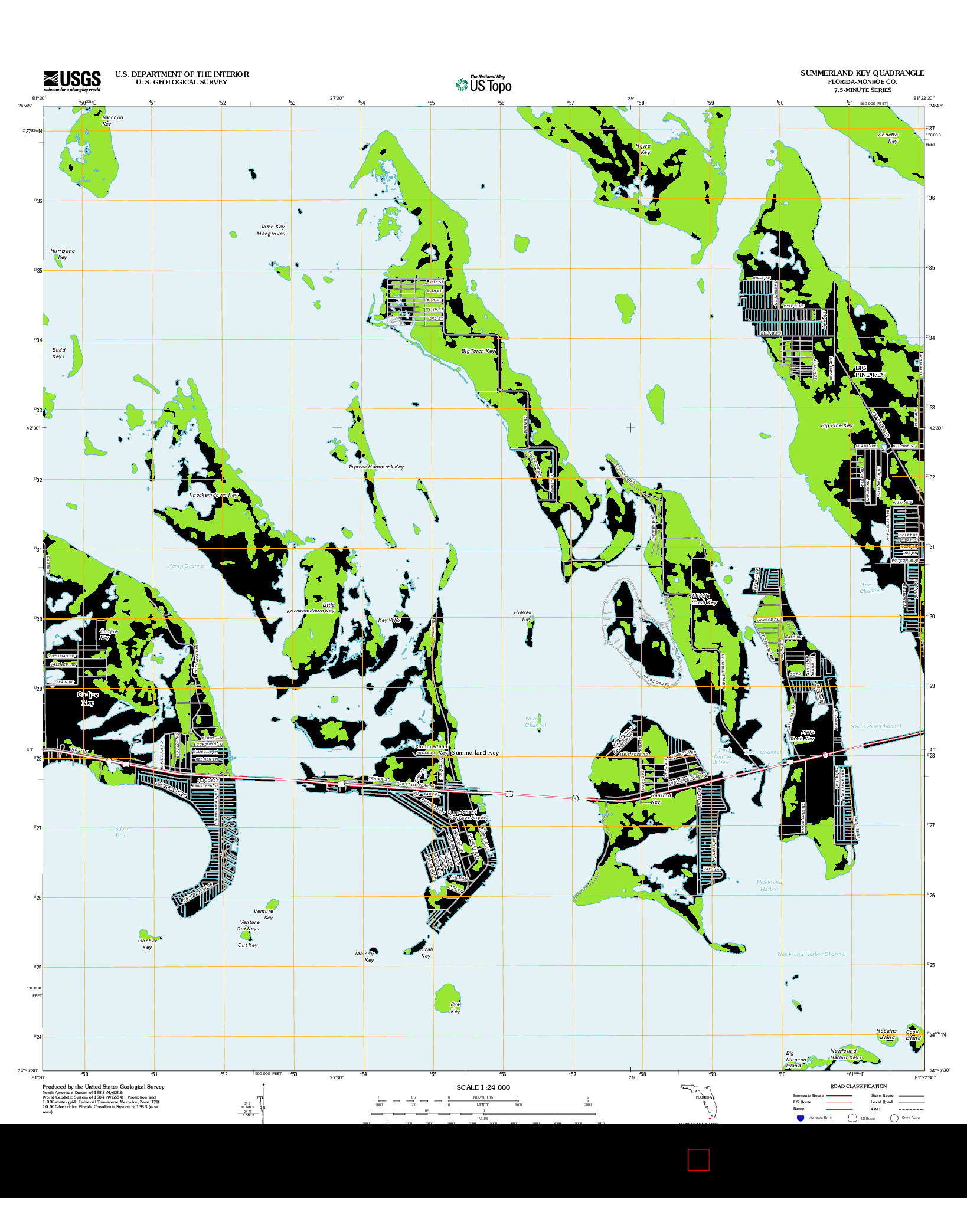 USGS US TOPO 7.5-MINUTE MAP FOR SUMMERLAND KEY, FL 2012