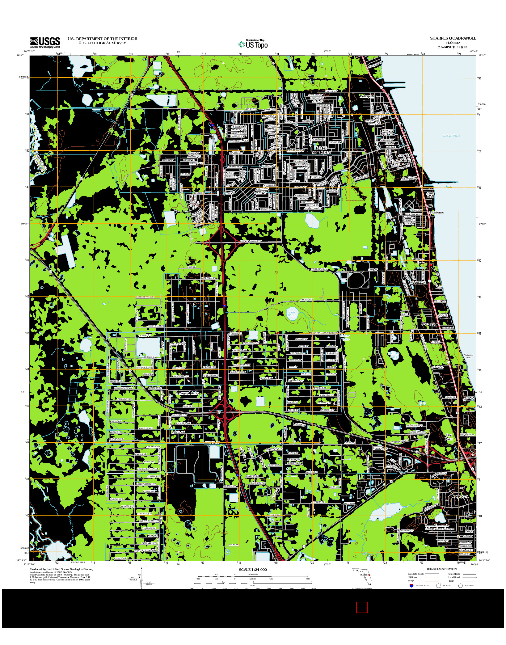 USGS US TOPO 7.5-MINUTE MAP FOR SHARPES, FL 2012