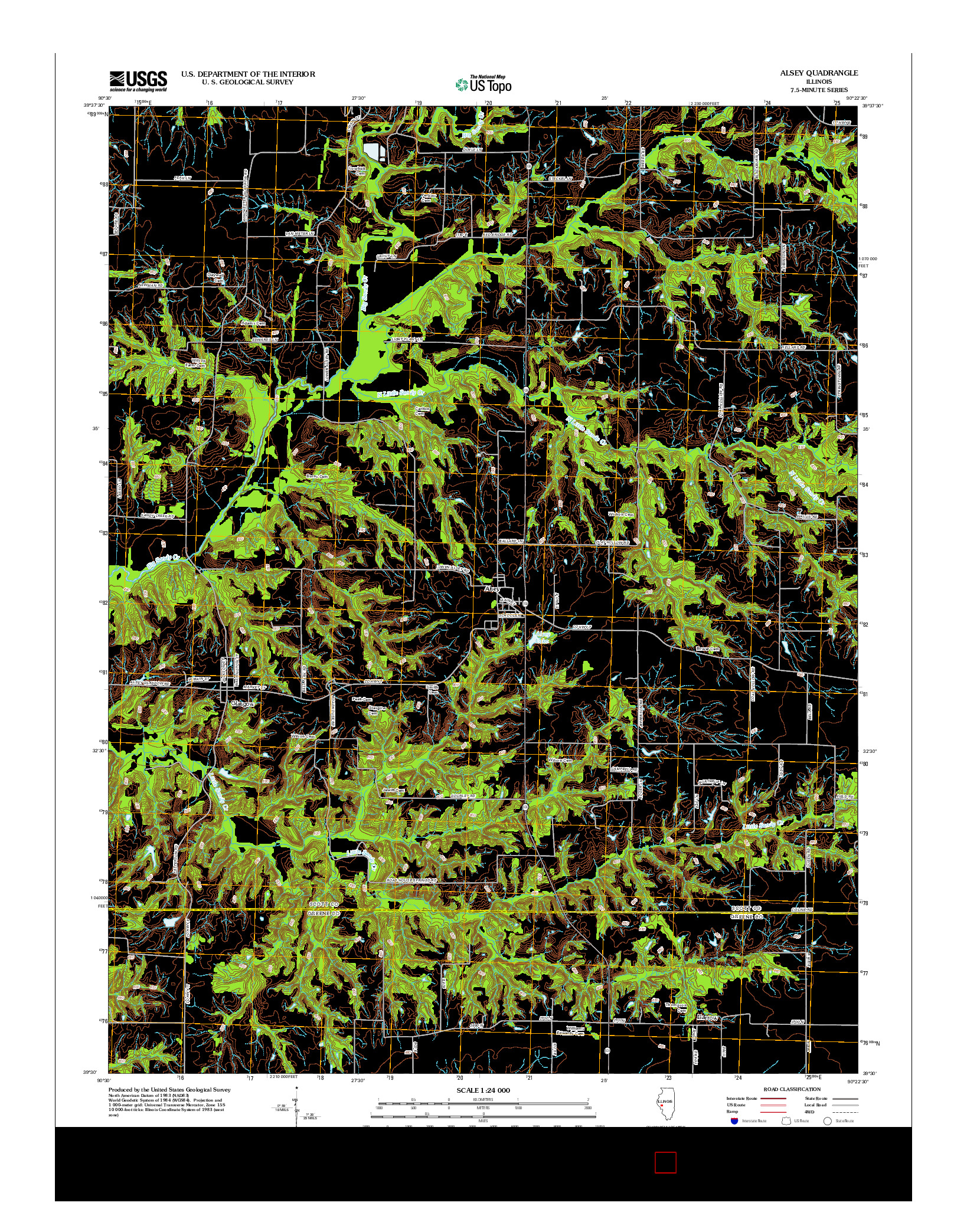 USGS US TOPO 7.5-MINUTE MAP FOR ALSEY, IL 2012