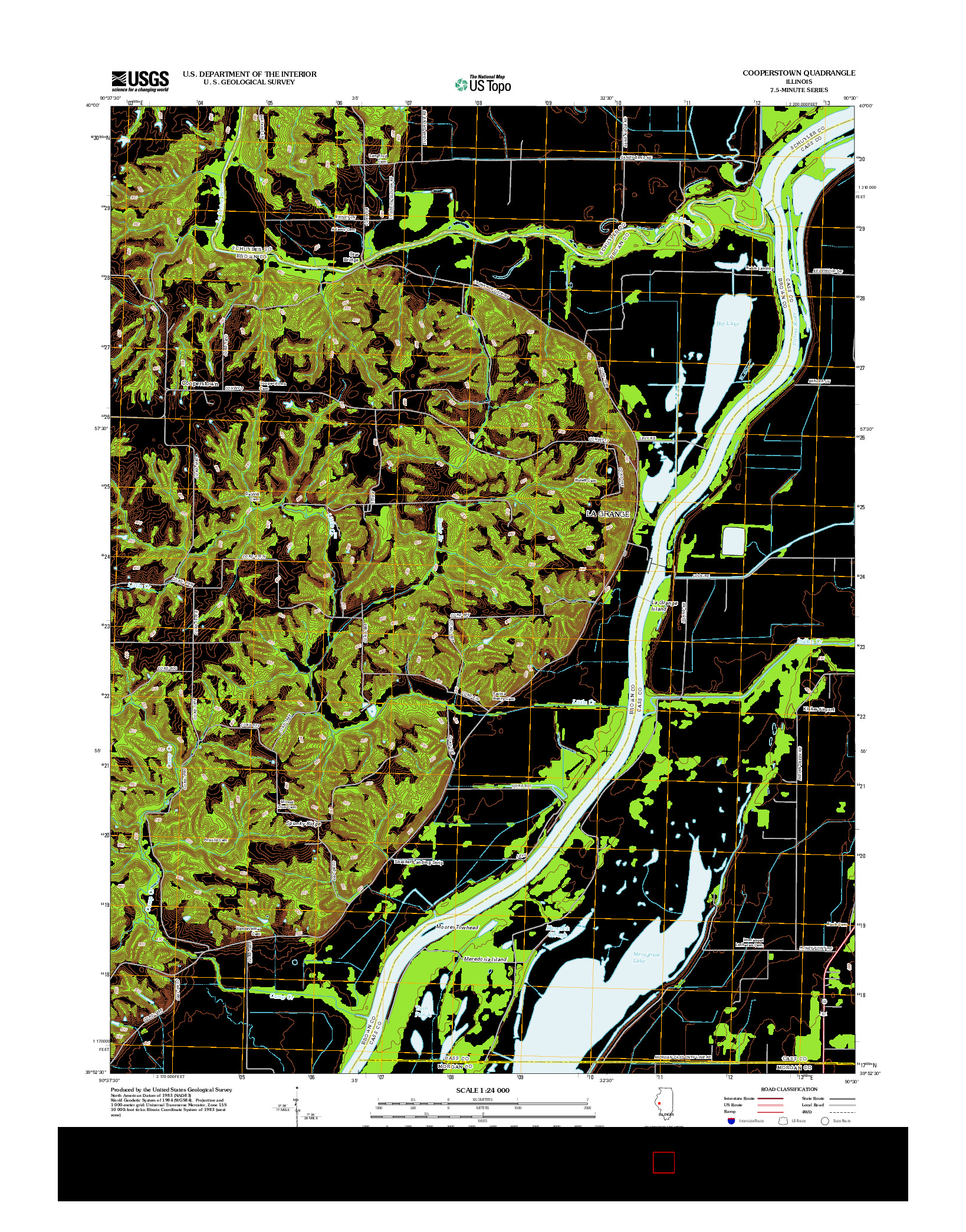 USGS US TOPO 7.5-MINUTE MAP FOR COOPERSTOWN, IL 2012