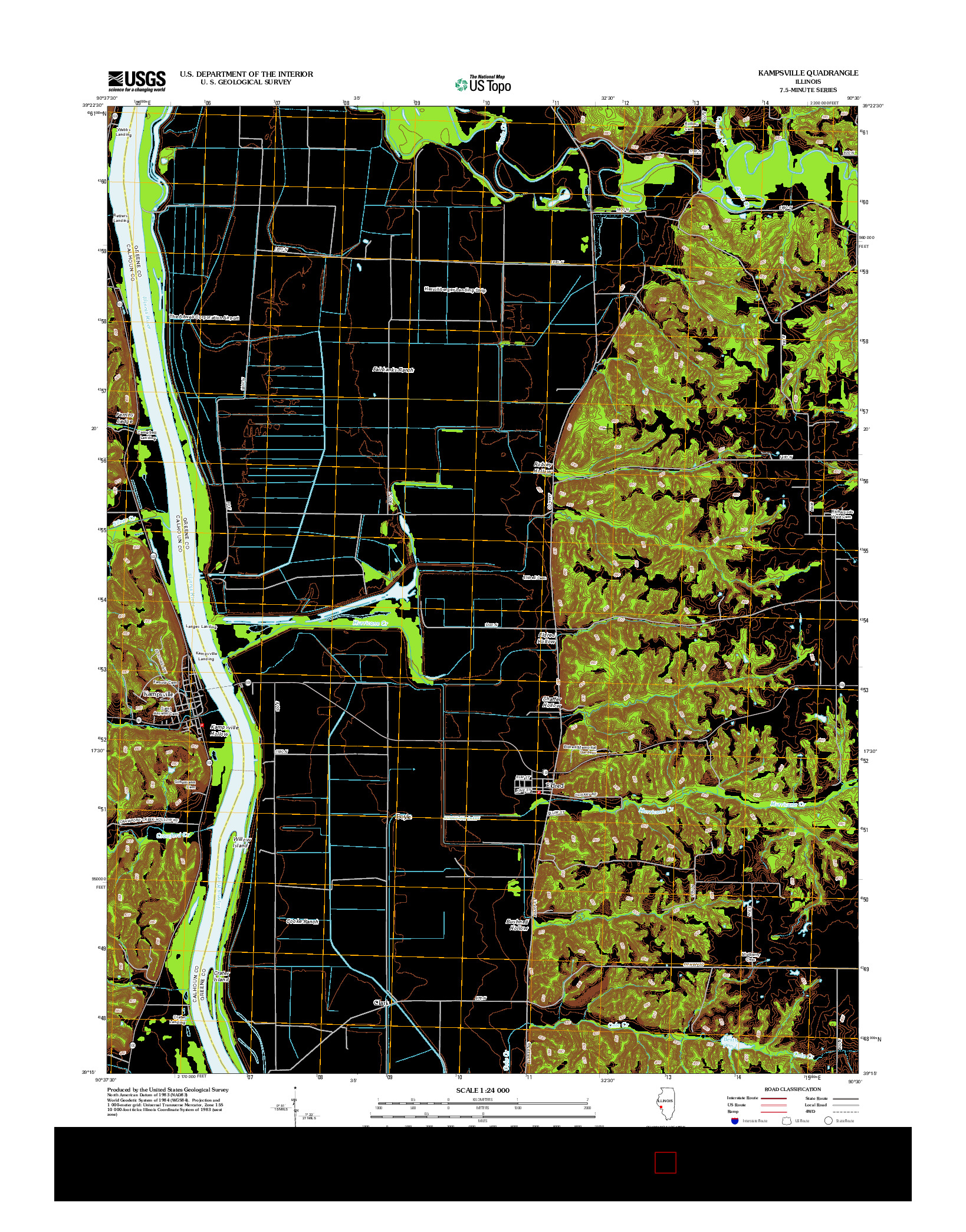 USGS US TOPO 7.5-MINUTE MAP FOR KAMPSVILLE, IL 2012