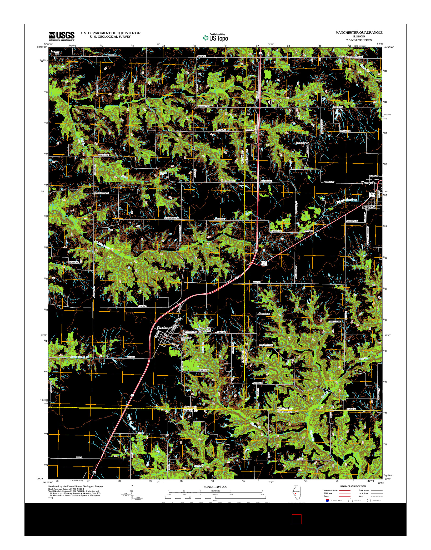 USGS US TOPO 7.5-MINUTE MAP FOR MANCHESTER, IL 2012