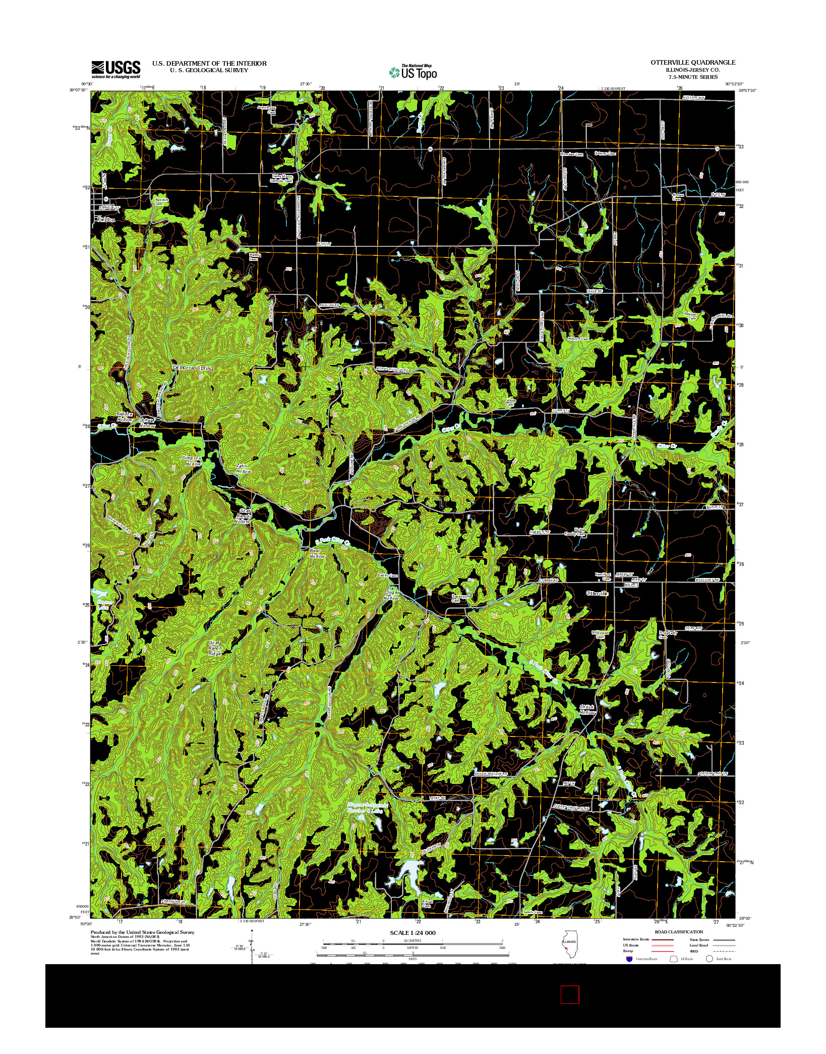USGS US TOPO 7.5-MINUTE MAP FOR OTTERVILLE, IL 2012