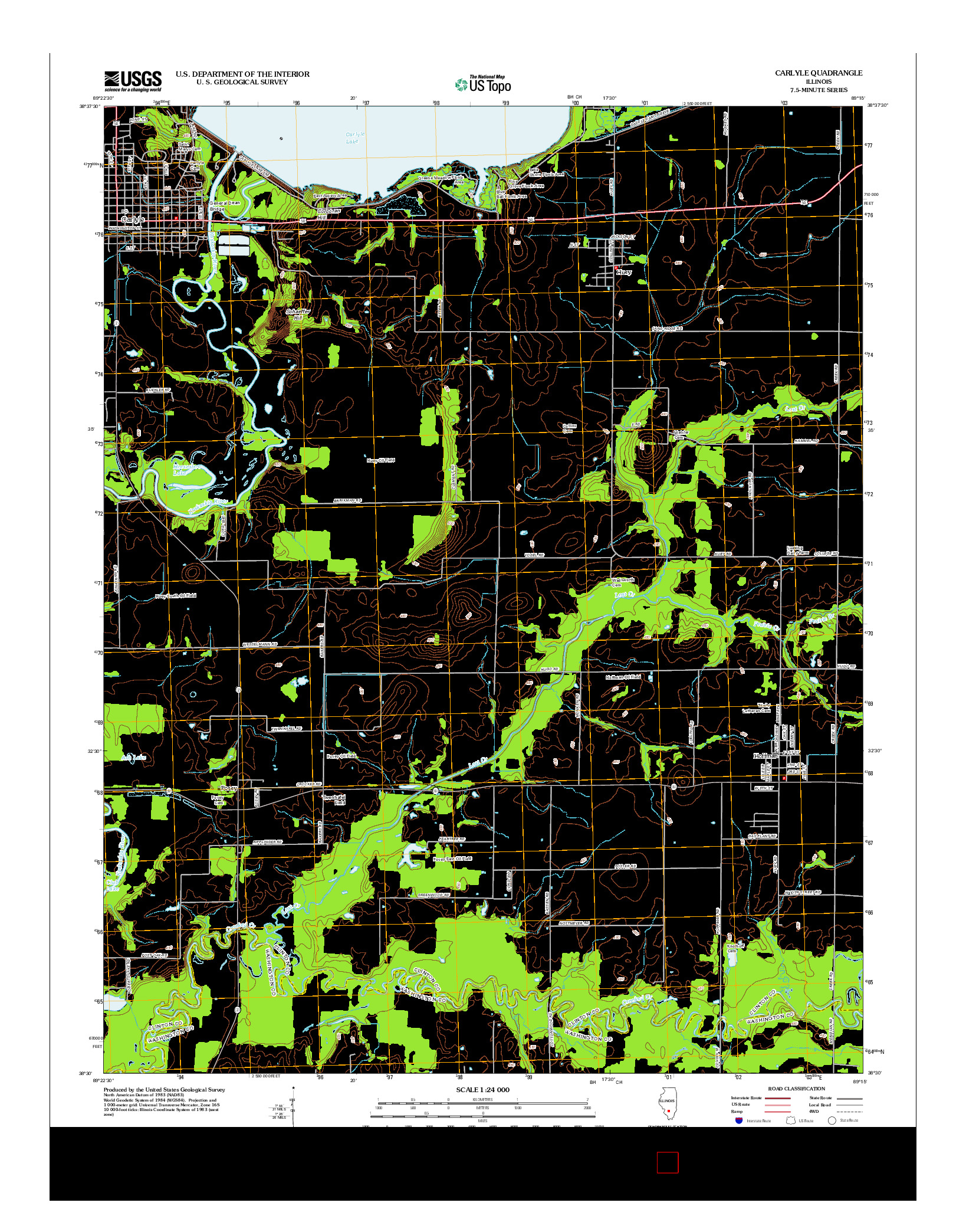 USGS US TOPO 7.5-MINUTE MAP FOR CARLYLE, IL 2012
