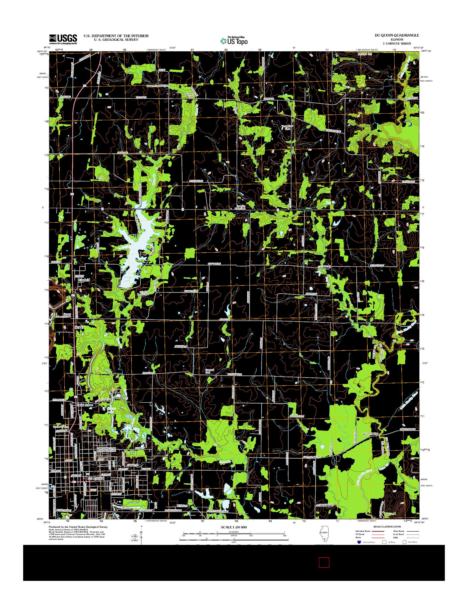 USGS US TOPO 7.5-MINUTE MAP FOR DU QUOIN, IL 2012