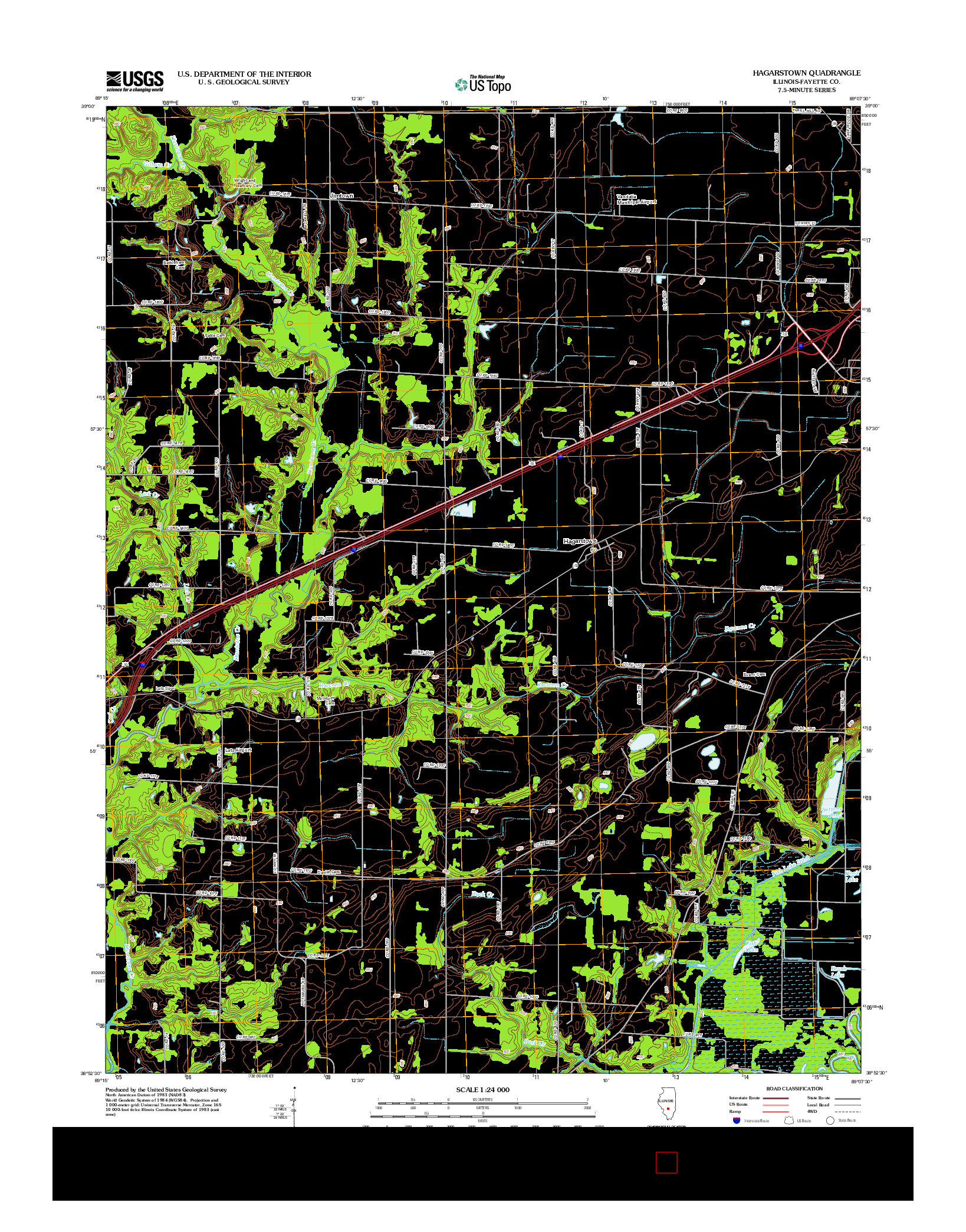 USGS US TOPO 7.5-MINUTE MAP FOR HAGARSTOWN, IL 2012