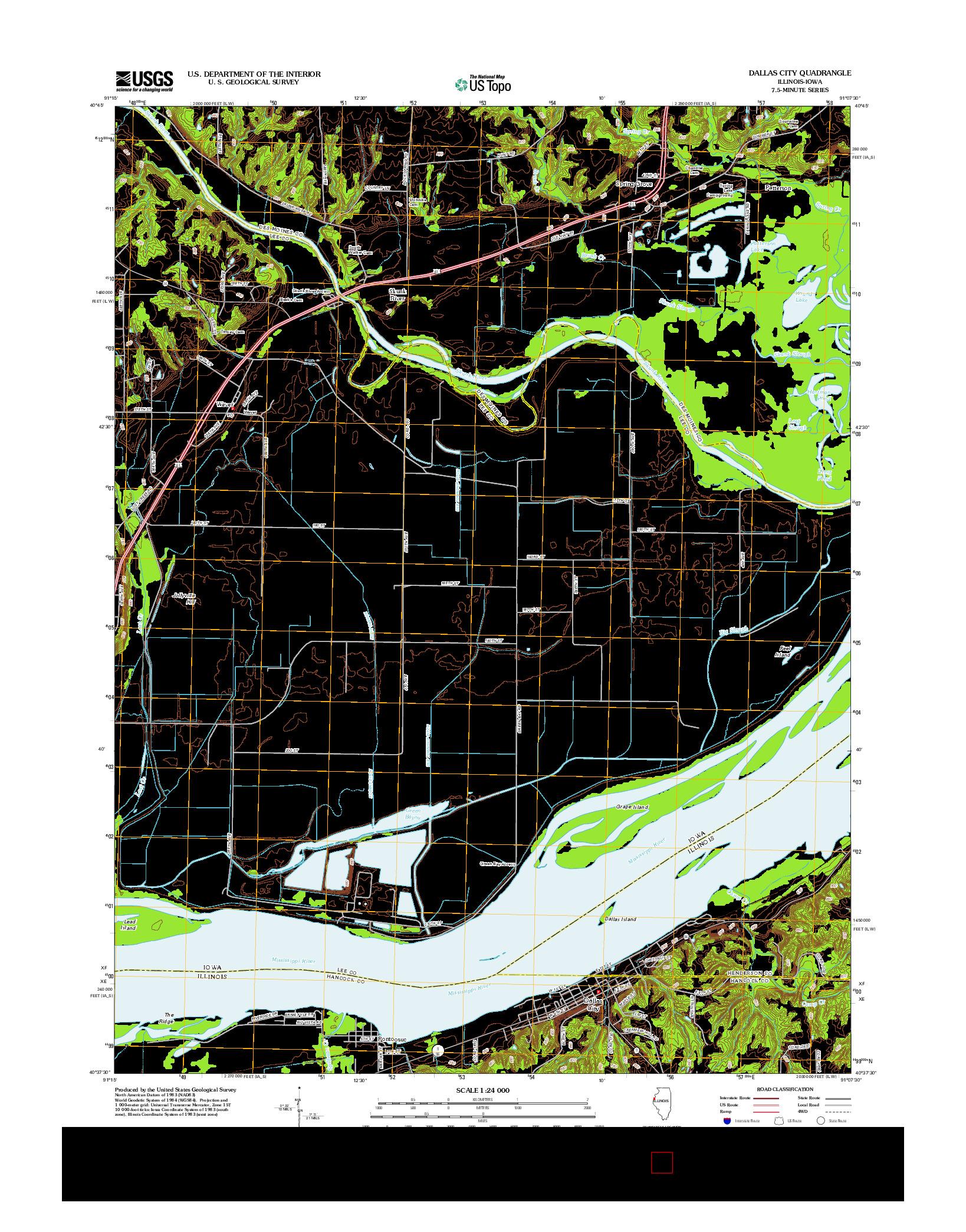 USGS US TOPO 7.5-MINUTE MAP FOR DALLAS CITY, IL-IA 2012