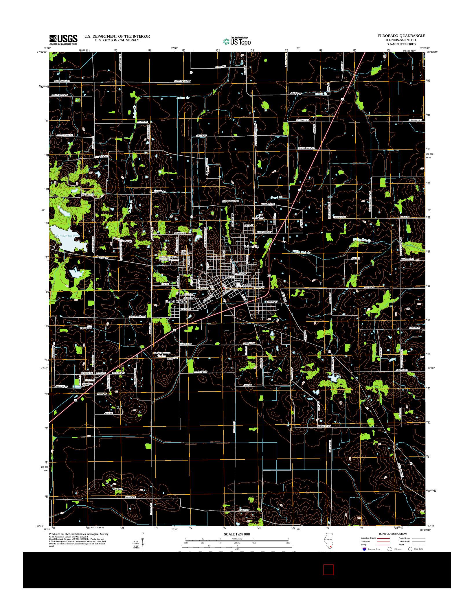 USGS US TOPO 7.5-MINUTE MAP FOR ELDORADO, IL 2012