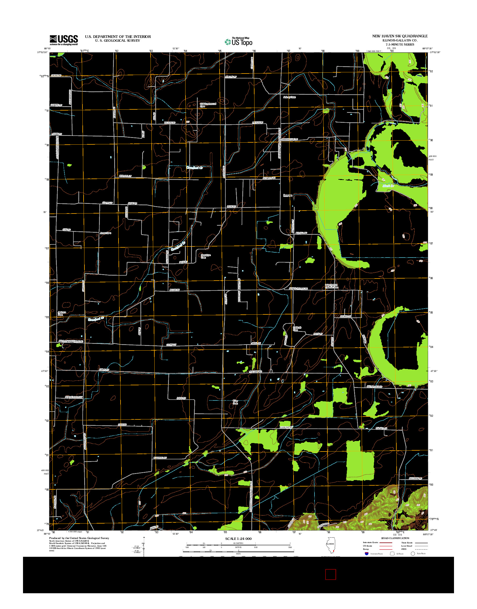 USGS US TOPO 7.5-MINUTE MAP FOR NEW HAVEN SW, IL 2012