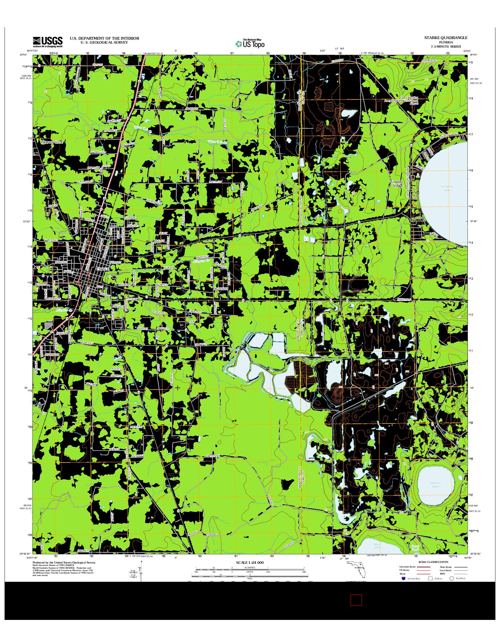 USGS US TOPO 7.5-MINUTE MAP FOR STARKE, FL 2012
