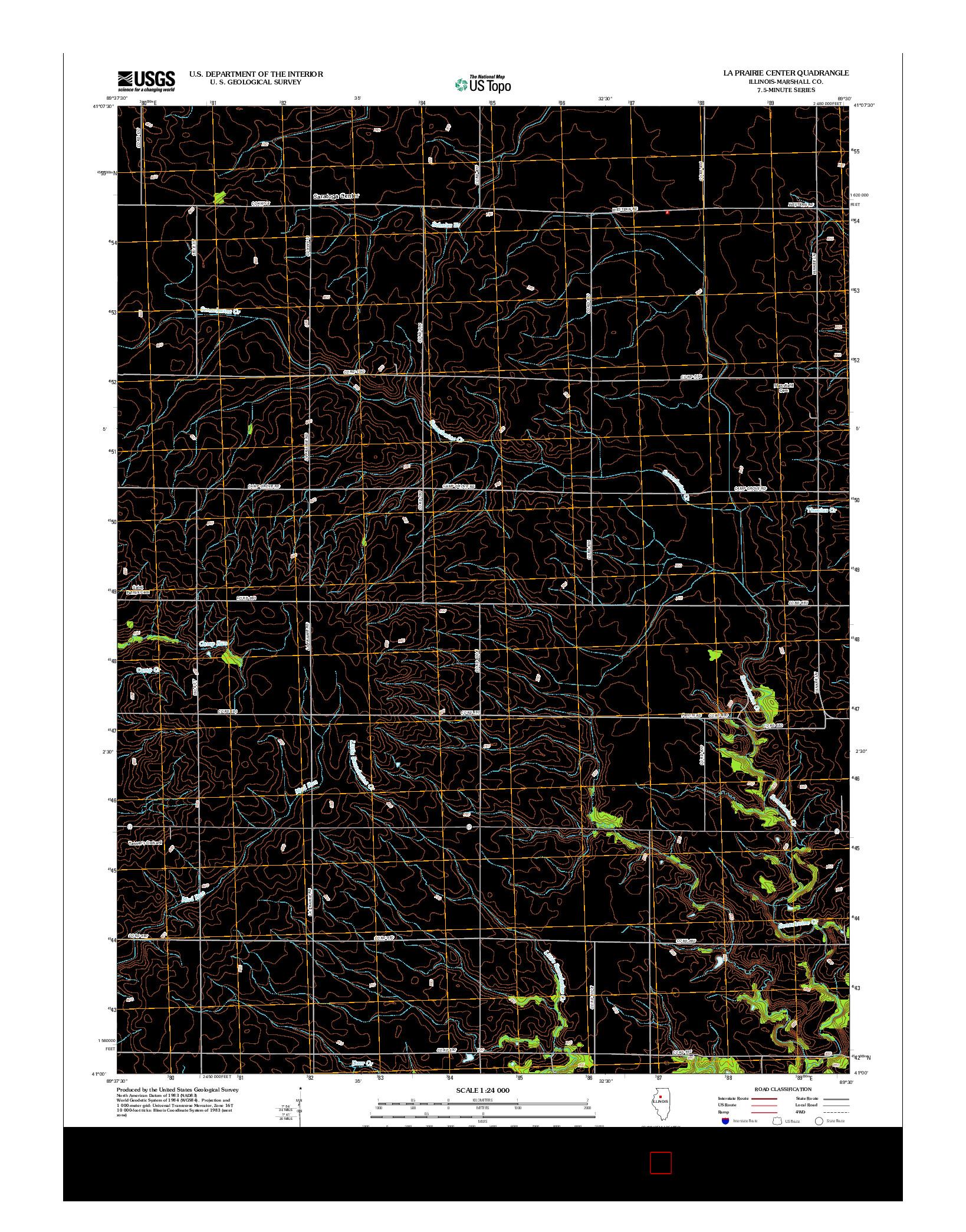 USGS US TOPO 7.5-MINUTE MAP FOR LA PRAIRIE CENTER, IL 2012