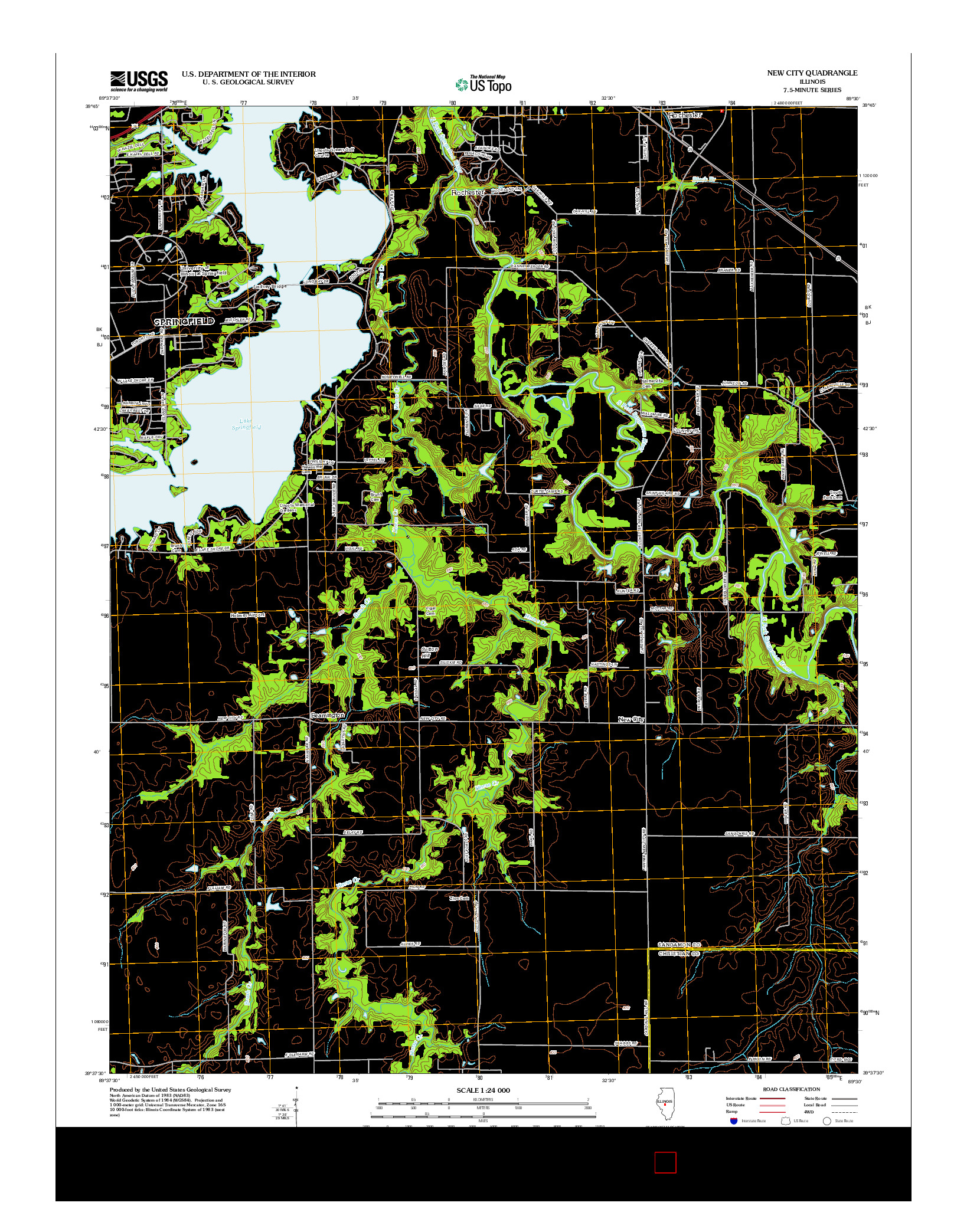 USGS US TOPO 7.5-MINUTE MAP FOR NEW CITY, IL 2012
