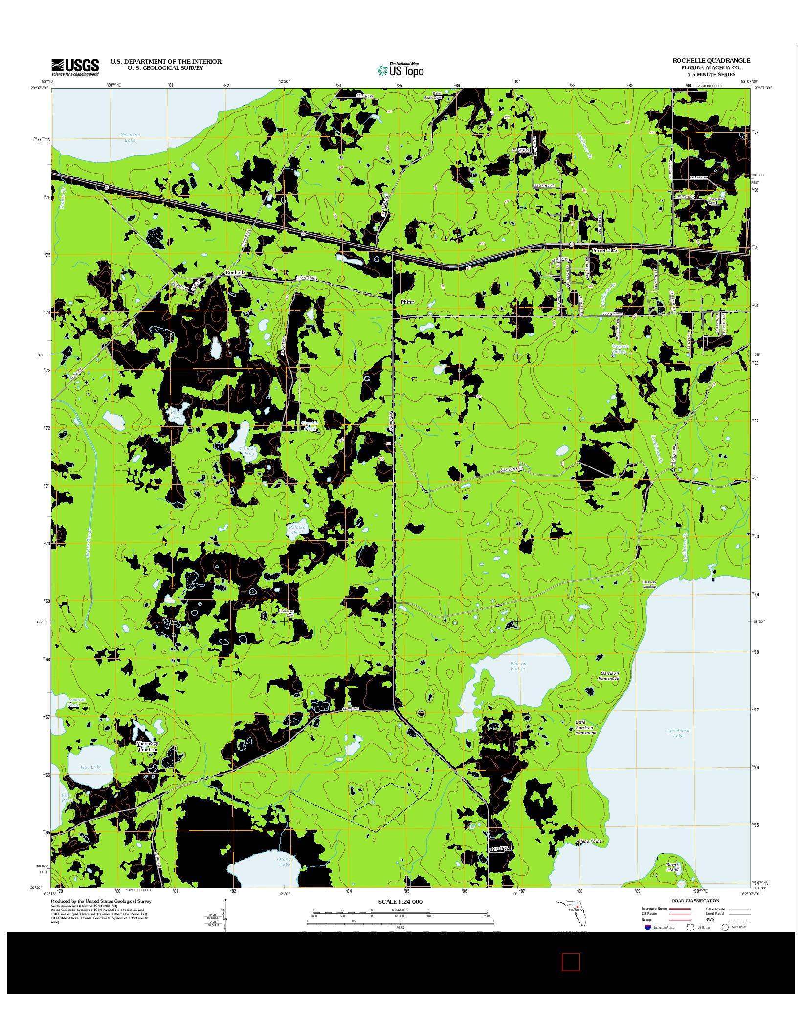 USGS US TOPO 7.5-MINUTE MAP FOR ROCHELLE, FL 2012