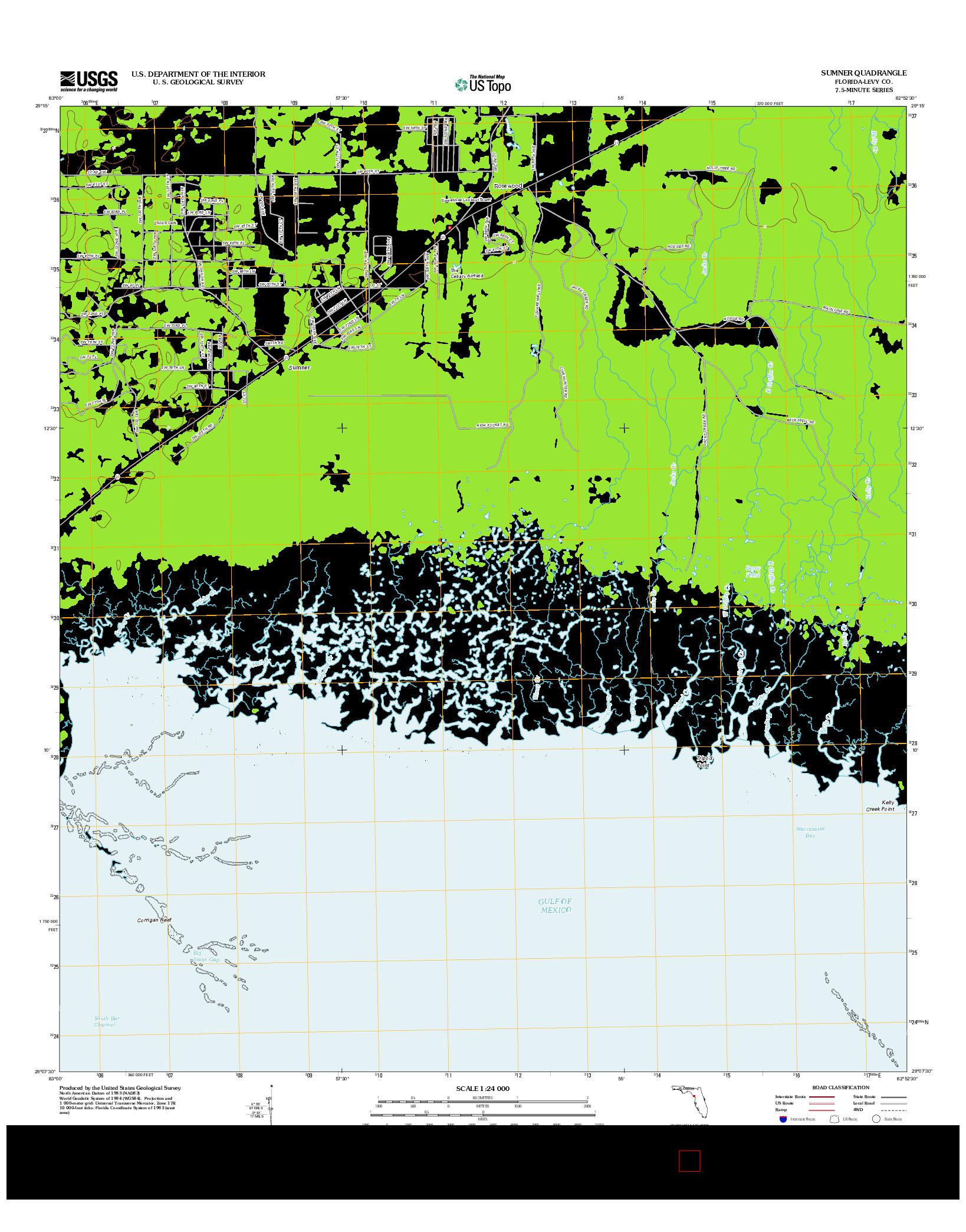 USGS US TOPO 7.5-MINUTE MAP FOR SUMNER, FL 2012