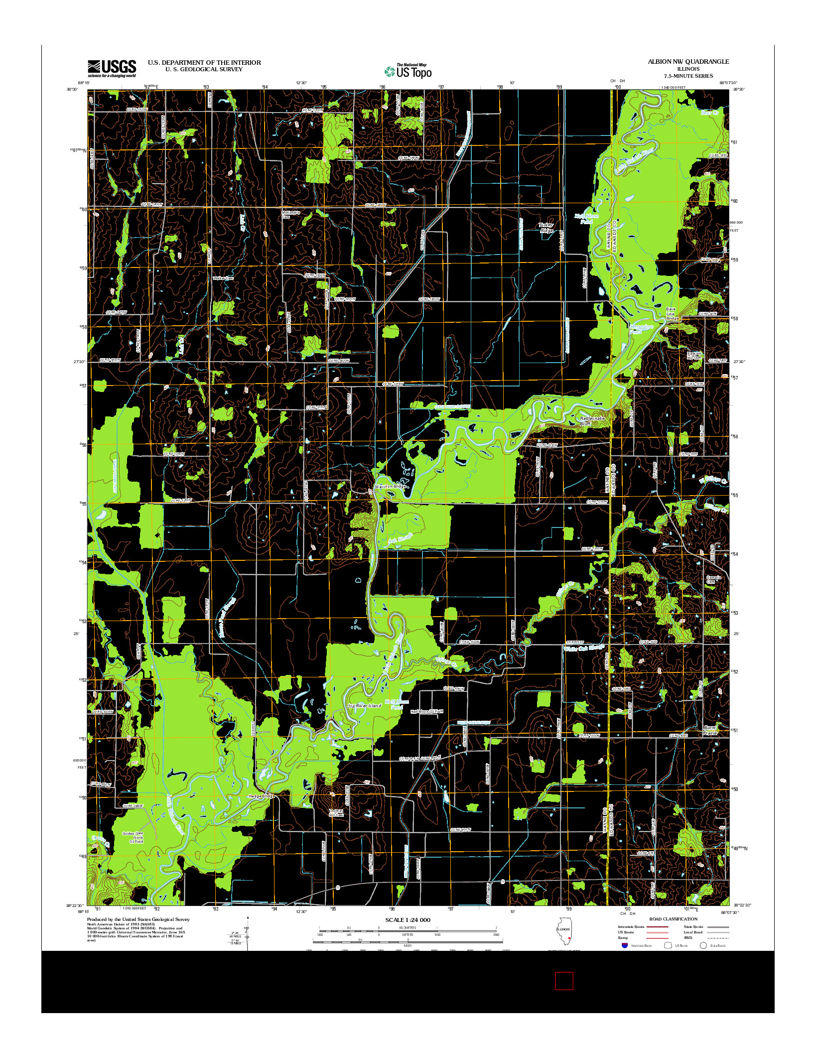 USGS US TOPO 7.5-MINUTE MAP FOR ALBION NW, IL 2012