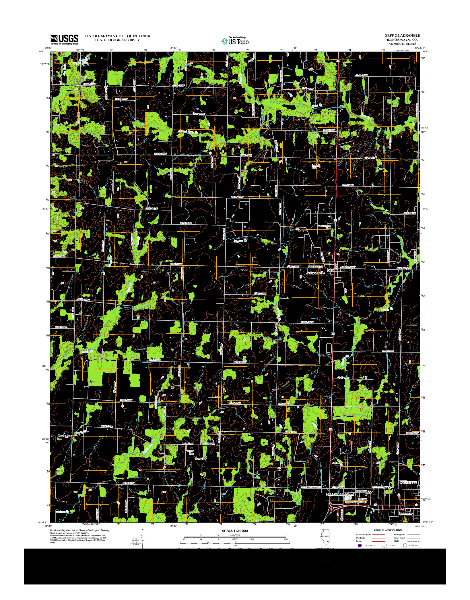 USGS US TOPO 7.5-MINUTE MAP FOR GEFF, IL 2012