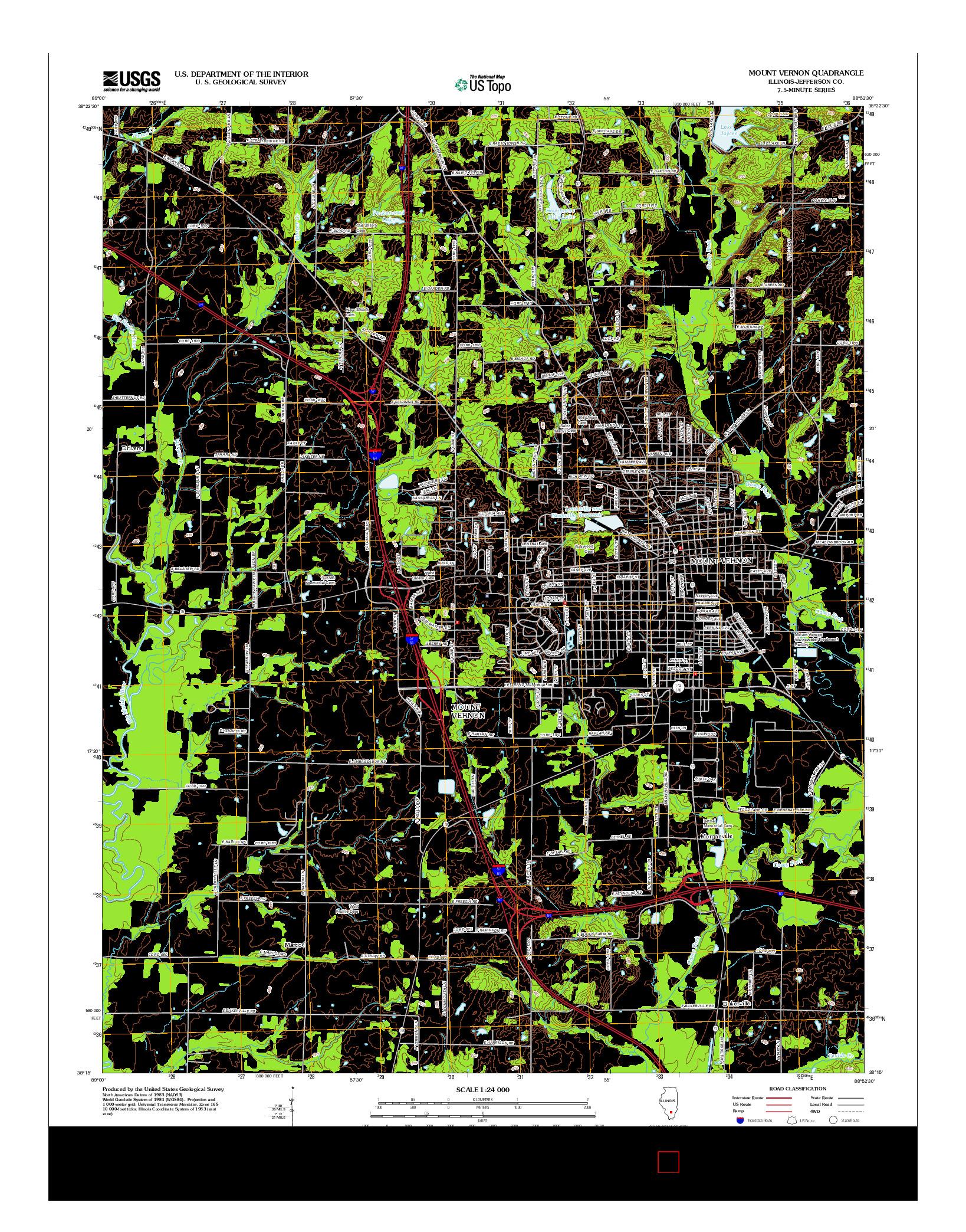 USGS US TOPO 7.5-MINUTE MAP FOR MOUNT VERNON, IL 2012