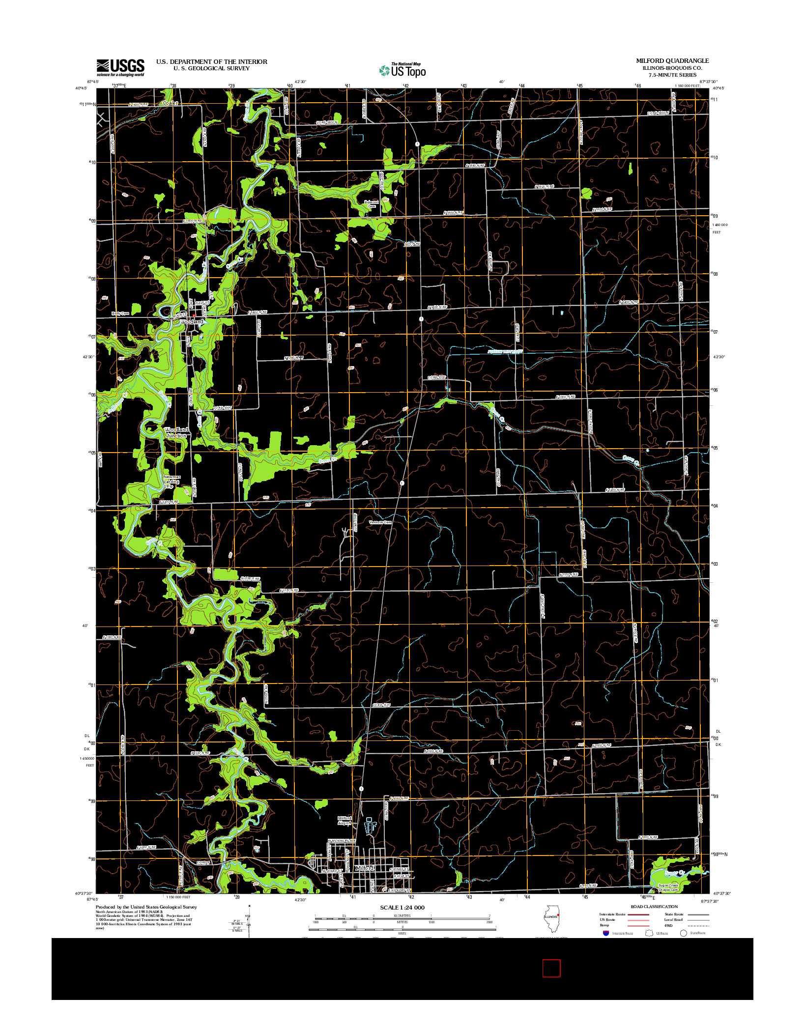 USGS US TOPO 7.5-MINUTE MAP FOR MILFORD, IL 2012