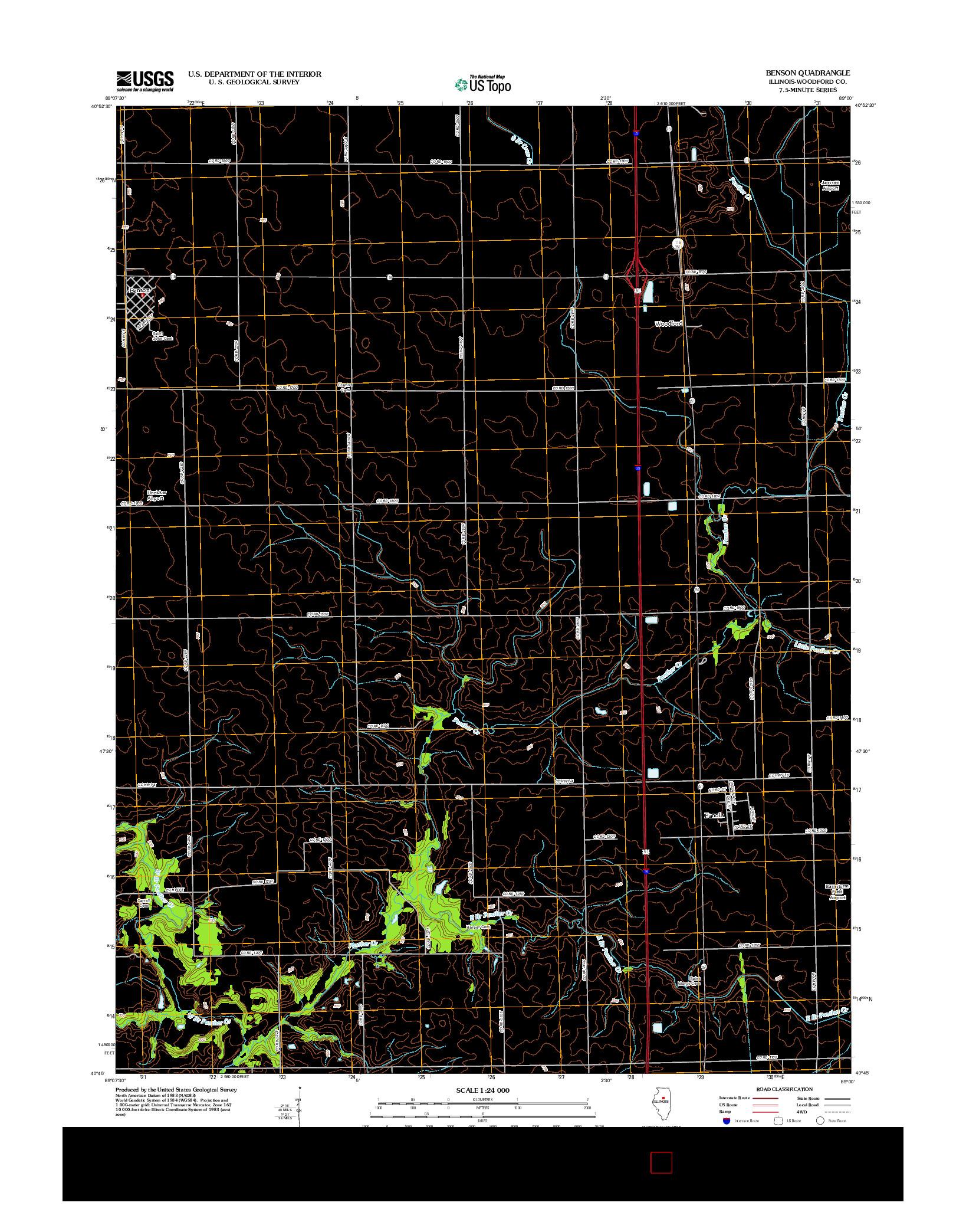 USGS US TOPO 7.5-MINUTE MAP FOR BENSON, IL 2012