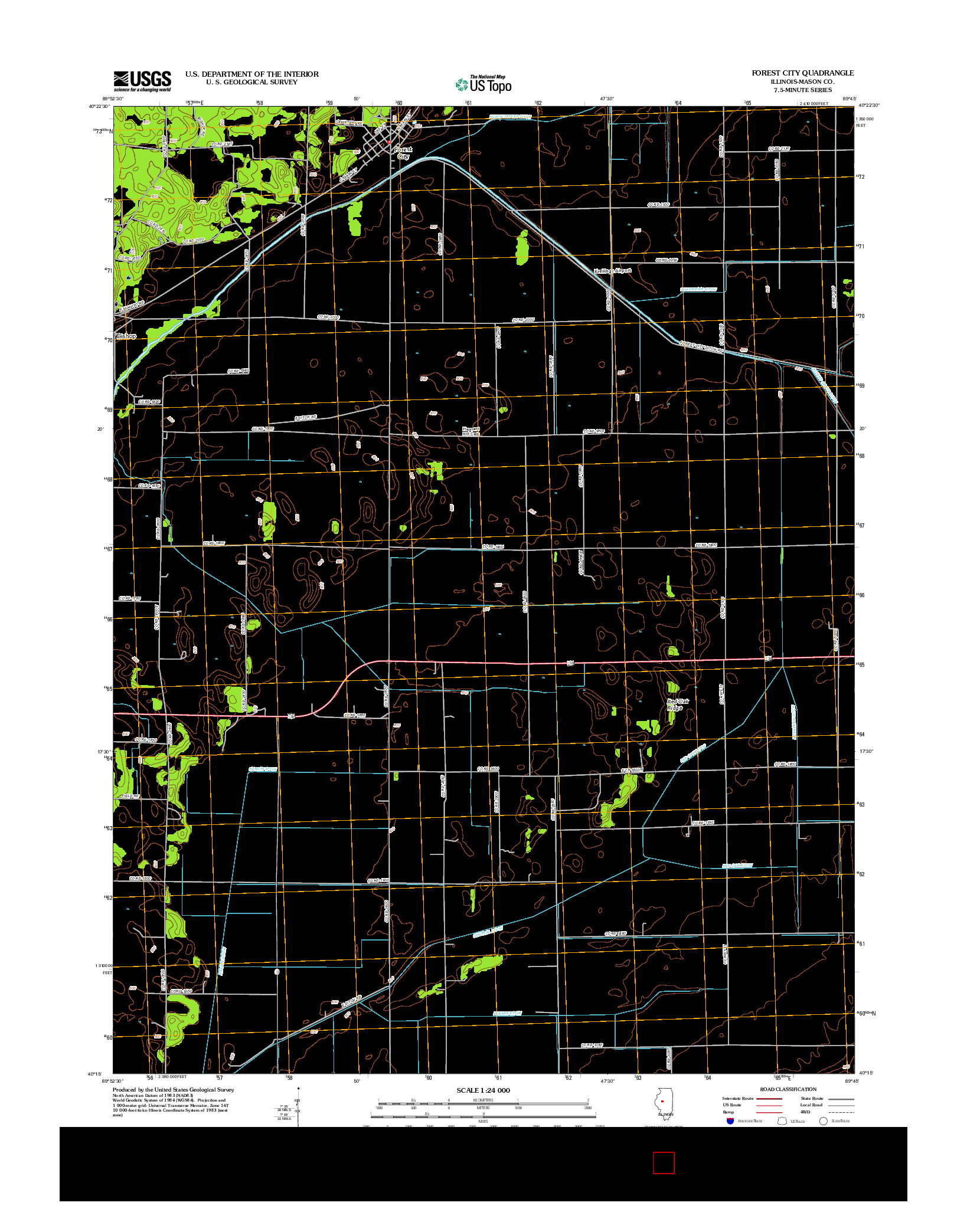 USGS US TOPO 7.5-MINUTE MAP FOR FOREST CITY, IL 2012