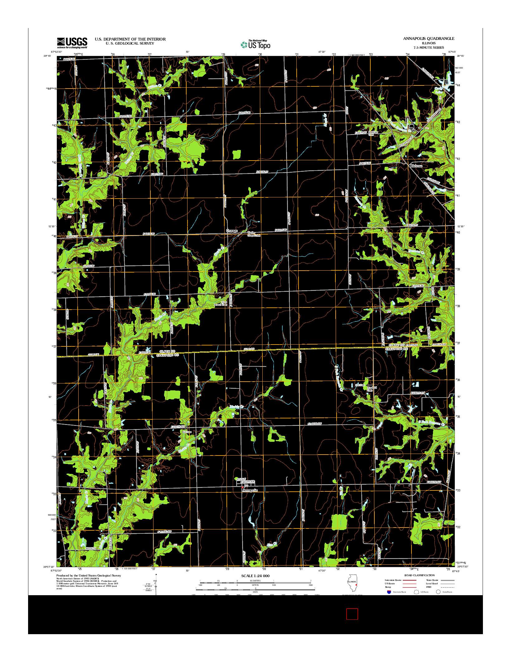 USGS US TOPO 7.5-MINUTE MAP FOR ANNAPOLIS, IL 2012