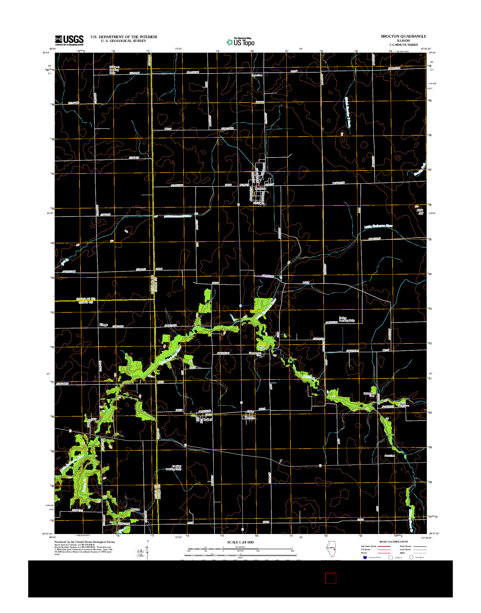 USGS US TOPO 7.5-MINUTE MAP FOR BROCTON, IL 2012