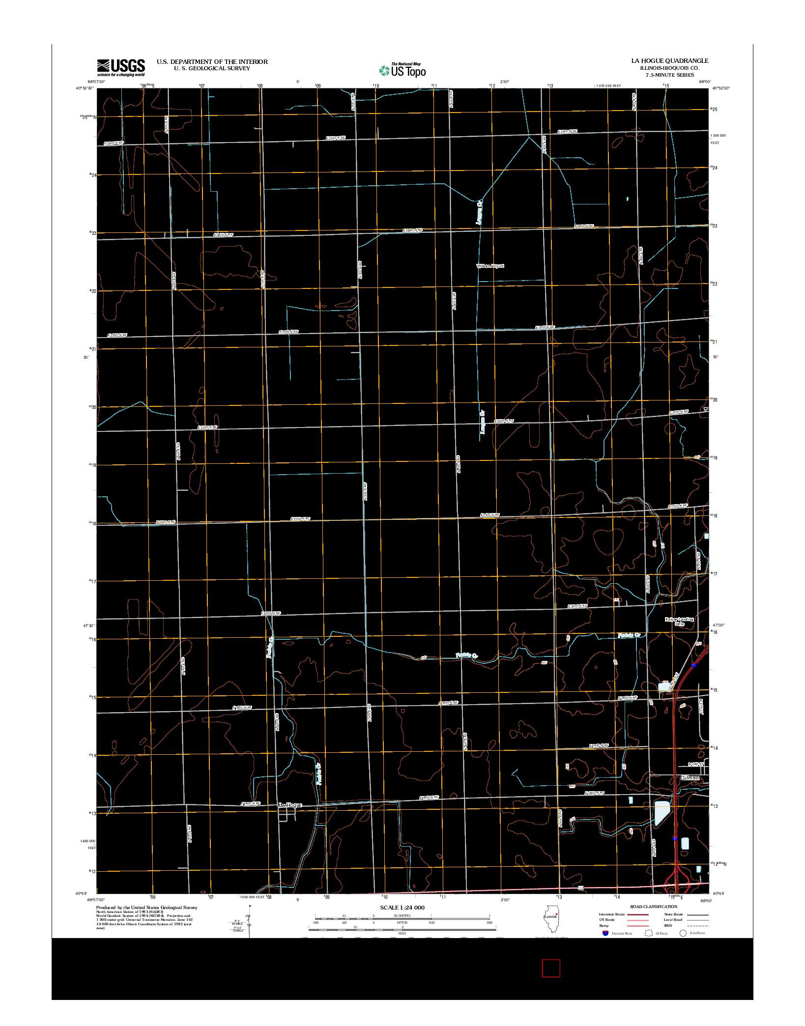 USGS US TOPO 7.5-MINUTE MAP FOR LA HOGUE, IL 2012