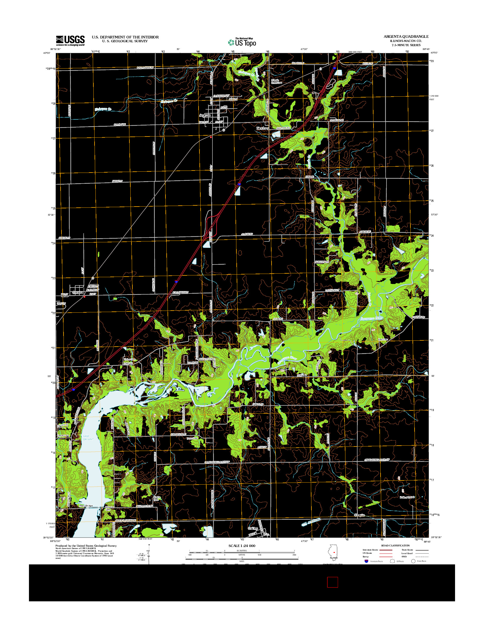 USGS US TOPO 7.5-MINUTE MAP FOR ARGENTA, IL 2012