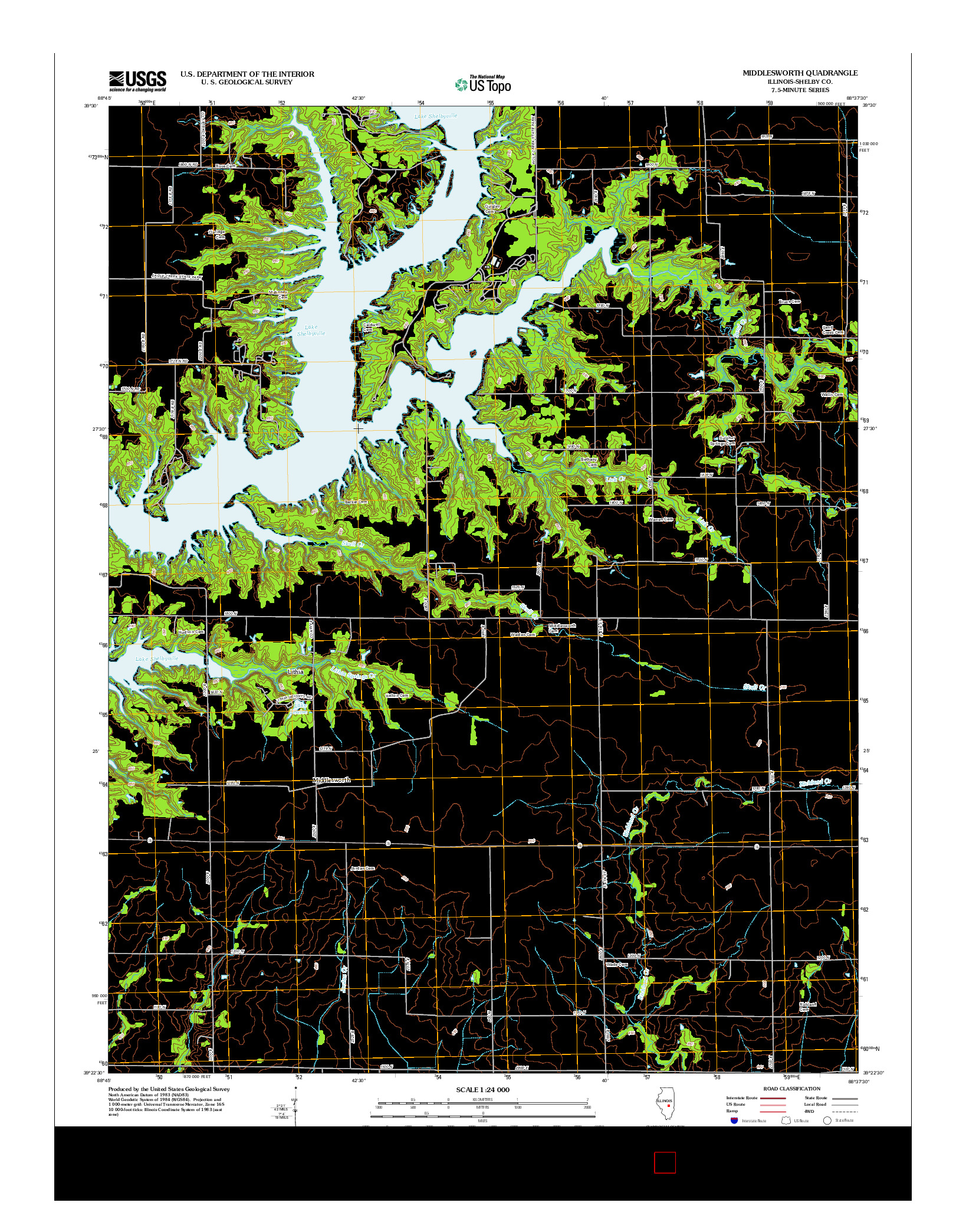 USGS US TOPO 7.5-MINUTE MAP FOR MIDDLESWORTH, IL 2012