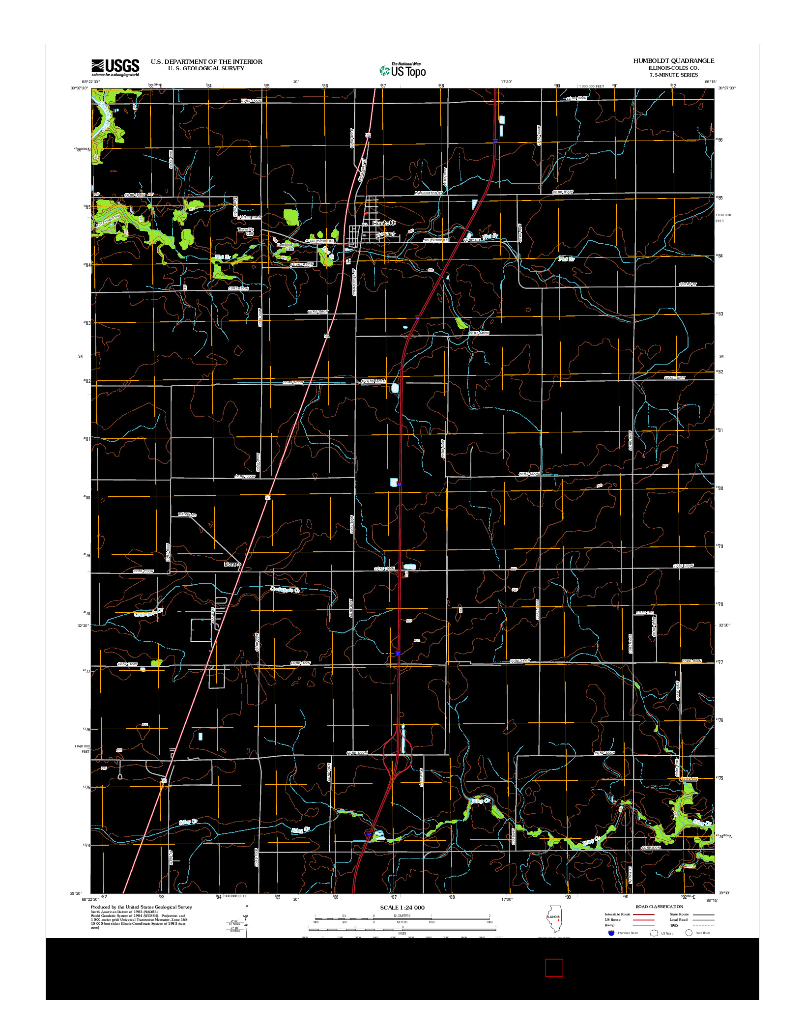 USGS US TOPO 7.5-MINUTE MAP FOR HUMBOLDT, IL 2012
